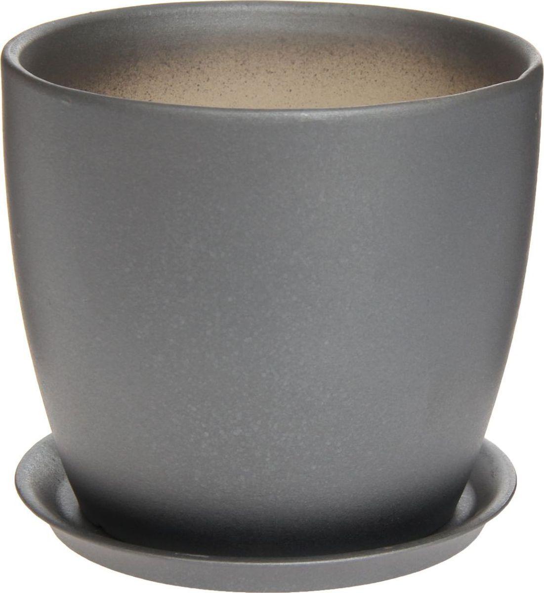 Кашпо Керамика ручной работы Осень. Перламутр, цвет: черный, 3 л1170363Комнатные растения — всеобщие любимцы. Они радуют глаз, насыщают помещение кислородом и украшают пространство. Каждому из них необходим свой удобный и красивый дом. Кашпо из керамики прекрасно подходят для высадки растений: за счёт пластичности глины и разных способов обработки существует великое множество форм и дизайновпористый материал позволяет испаряться лишней влагевоздух, необходимый для дыхания корней, проникает сквозь керамические стенки! #name# позаботится о зелёном питомце, освежит интерьер и подчеркнёт его стиль.
