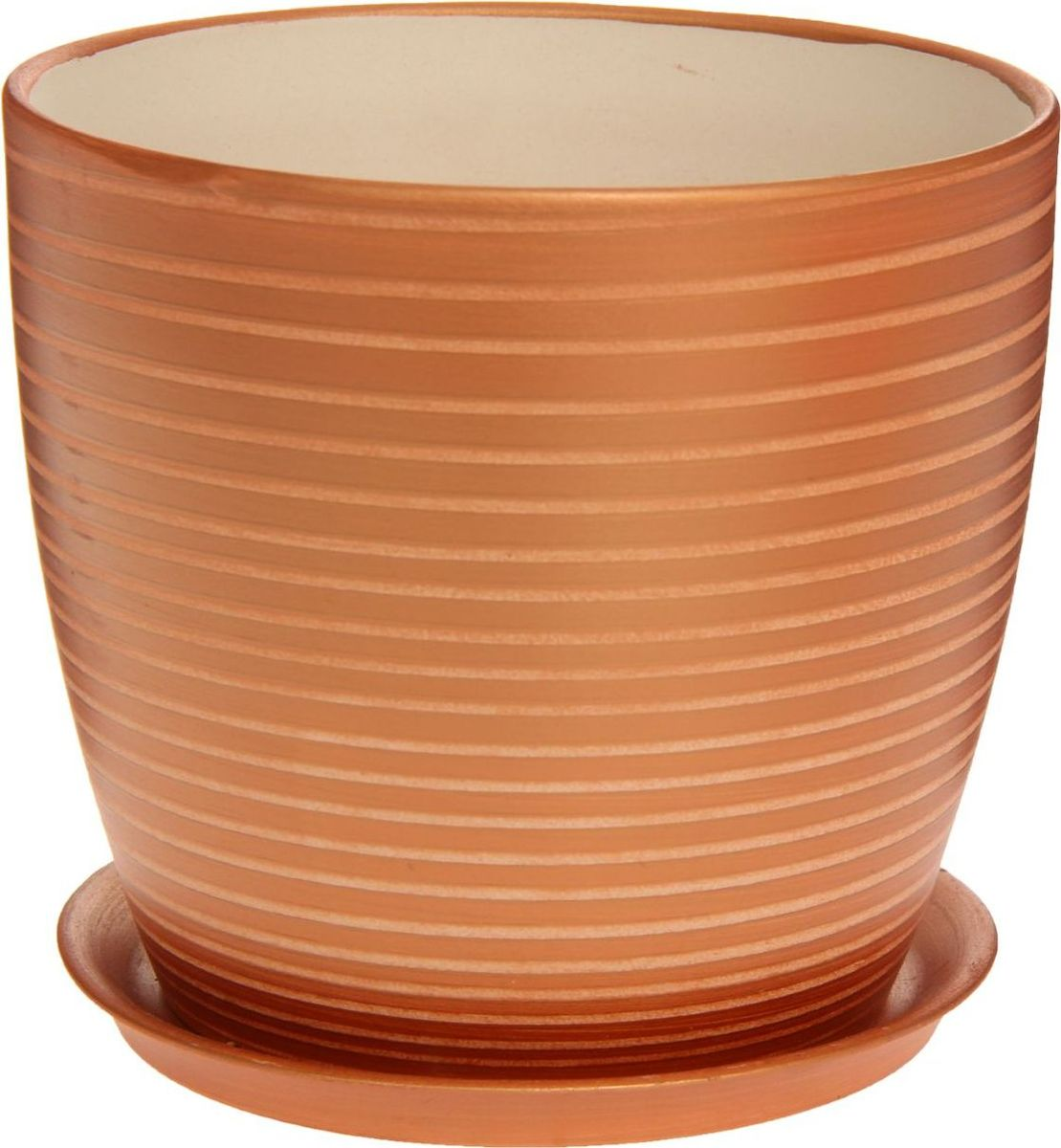Кашпо Керамика ручной работы Осень. Радуга, цвет: бронзовый, 3 л1170365Комнатные растения — всеобщие любимцы. Они радуют глаз, насыщают помещение кислородом и украшают пространство. Каждому из них необходим свой удобный и красивый дом. Кашпо из керамики прекрасно подходят для высадки растений: за счёт пластичности глины и разных способов обработки существует великое множество форм и дизайновпористый материал позволяет испаряться лишней влагевоздух, необходимый для дыхания корней, проникает сквозь керамические стенки! #name# позаботится о зелёном питомце, освежит интерьер и подчеркнёт его стиль.