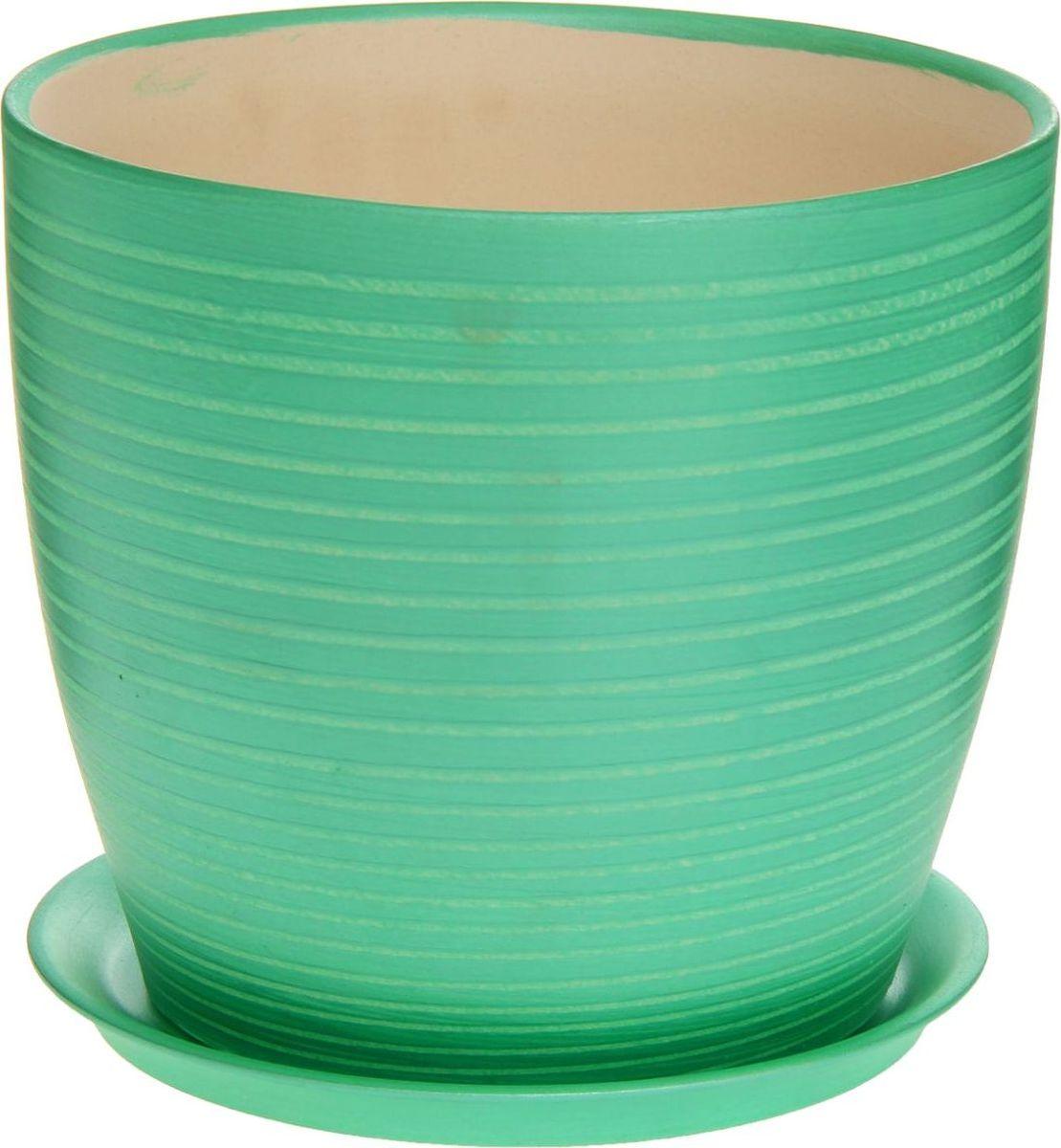 Кашпо Керамика ручной работы Осень. Радуга, цвет: зеленый, 3 л1170366Комнатные растения — всеобщие любимцы. Они радуют глаз, насыщают помещение кислородом и украшают пространство. Каждому из них необходим свой удобный и красивый дом. Кашпо из керамики прекрасно подходят для высадки растений: за счёт пластичности глины и разных способов обработки существует великое множество форм и дизайновпористый материал позволяет испаряться лишней влагевоздух, необходимый для дыхания корней, проникает сквозь керамические стенки! #name# позаботится о зелёном питомце, освежит интерьер и подчеркнёт его стиль.