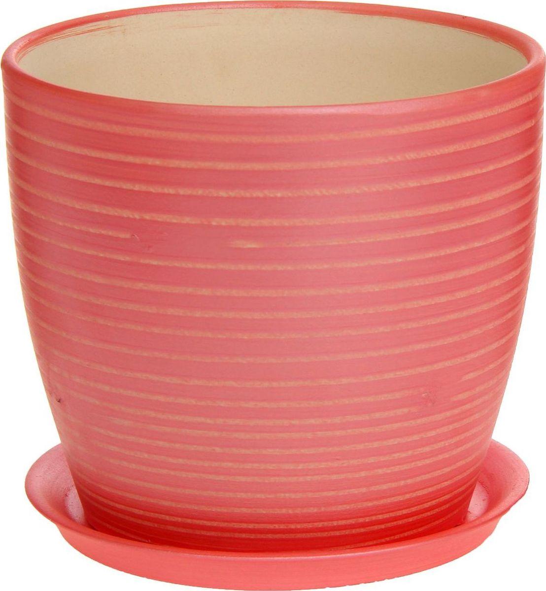 Кашпо Керамика ручной работы Осень. Радуга, цвет: красный, 3 л1170369Комнатные растения — всеобщие любимцы. Они радуют глаз, насыщают помещение кислородом и украшают пространство. Каждому из них необходим свой удобный и красивый дом. Кашпо из керамики прекрасно подходят для высадки растений: за счёт пластичности глины и разных способов обработки существует великое множество форм и дизайновпористый материал позволяет испаряться лишней влагевоздух, необходимый для дыхания корней, проникает сквозь керамические стенки! #name# позаботится о зелёном питомце, освежит интерьер и подчеркнёт его стиль.