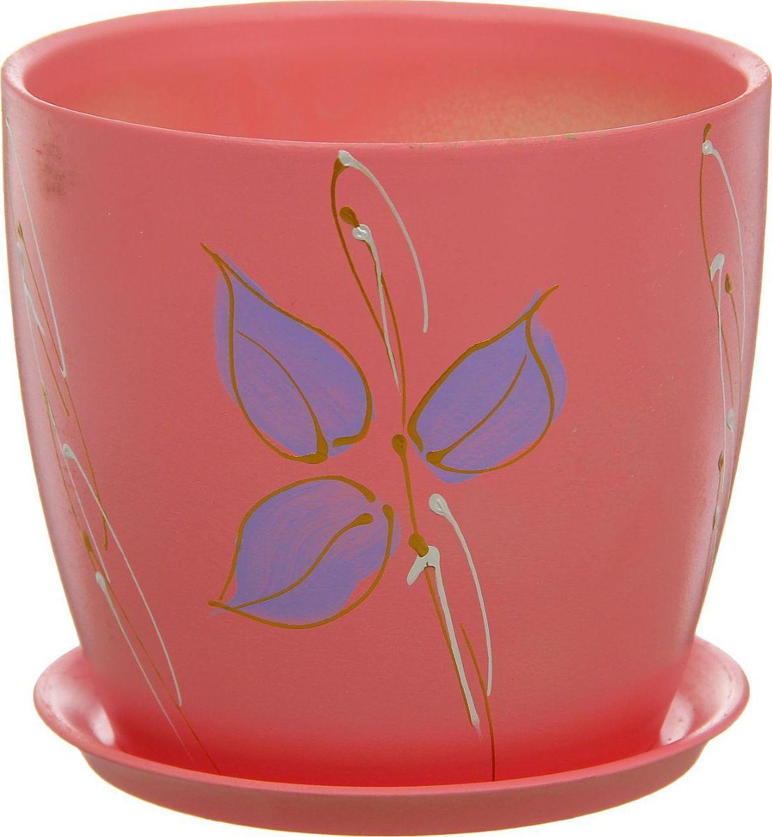 Кашпо Керамика ручной работы Осень. Роспись, цвет: красный, 3 л1170381Комнатные растения — всеобщие любимцы. Они радуют глаз, насыщают помещение кислородом и украшают пространство. Каждому из них необходим свой удобный и красивый дом. Кашпо из керамики прекрасно подходят для высадки растений: за счёт пластичности глины и разных способов обработки существует великое множество форм и дизайновпористый материал позволяет испаряться лишней влагевоздух, необходимый для дыхания корней, проникает сквозь керамические стенки! #name# позаботится о зелёном питомце, освежит интерьер и подчеркнёт его стиль.