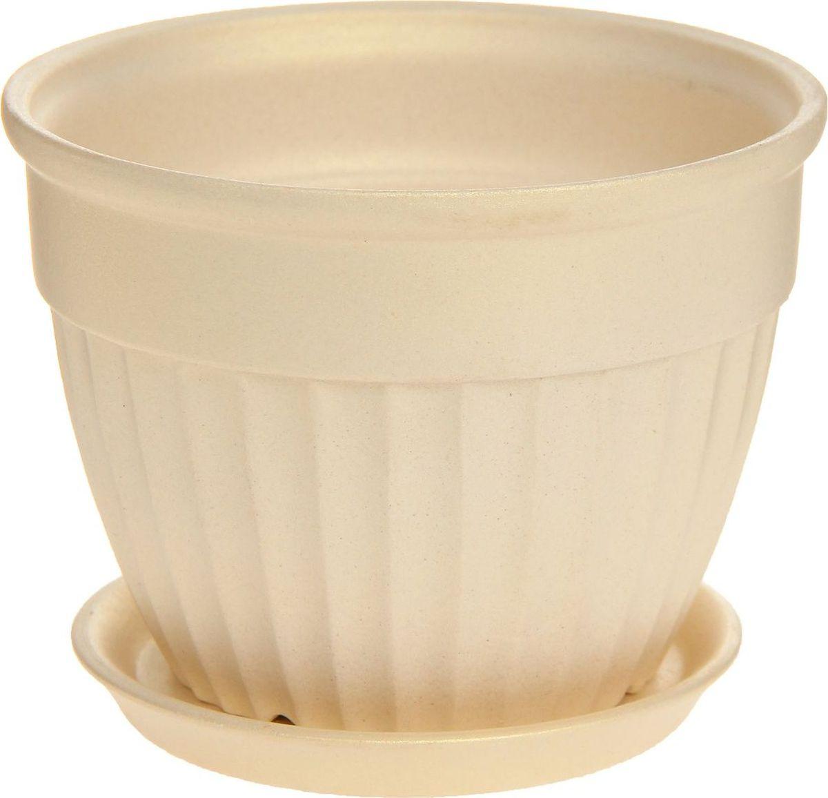 Кашпо Керамика ручной работы Ромашка, цвет: перламутровый, 0,5 л1170386Комнатные растения — всеобщие любимцы. Они радуют глаз, насыщают помещение кислородом и украшают пространство. Каждому из них необходим свой удобный и красивый дом. Кашпо из керамики прекрасно подходят для высадки растений: за счёт пластичности глины и разных способов обработки существует великое множество форм и дизайновпористый материал позволяет испаряться лишней влагевоздух, необходимый для дыхания корней, проникает сквозь керамические стенки! #name# позаботится о зелёном питомце, освежит интерьер и подчеркнёт его стиль.