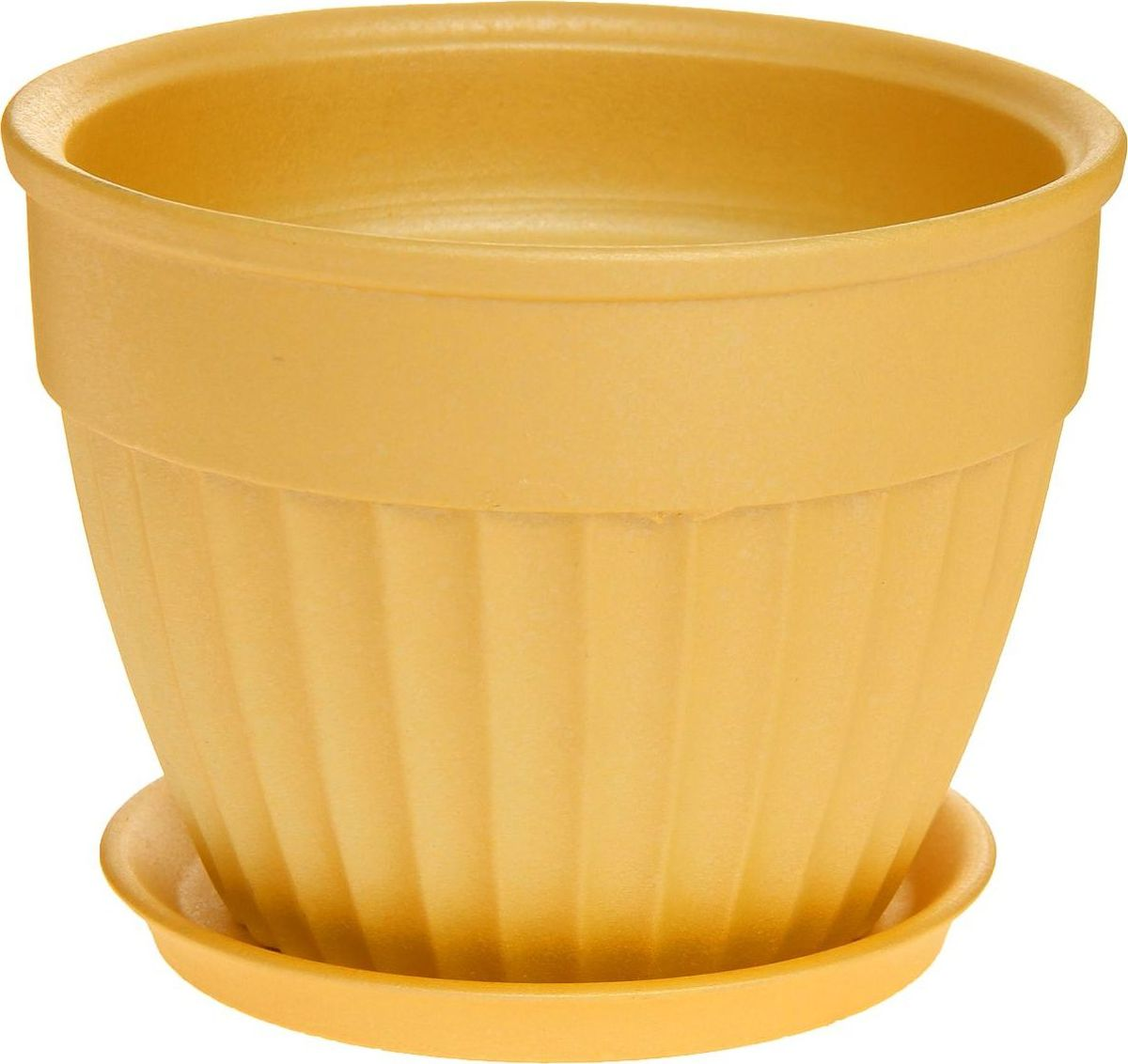 Кашпо Керамика ручной работы Ромашка, цвет: желтый, 1 л1170388Комнатные растения — всеобщие любимцы. Они радуют глаз, насыщают помещение кислородом и украшают пространство. Каждому из них необходим свой удобный и красивый дом. Кашпо из керамики прекрасно подходят для высадки растений: за счёт пластичности глины и разных способов обработки существует великое множество форм и дизайновпористый материал позволяет испаряться лишней влагевоздух, необходимый для дыхания корней, проникает сквозь керамические стенки! #name# позаботится о зелёном питомце, освежит интерьер и подчеркнёт его стиль.