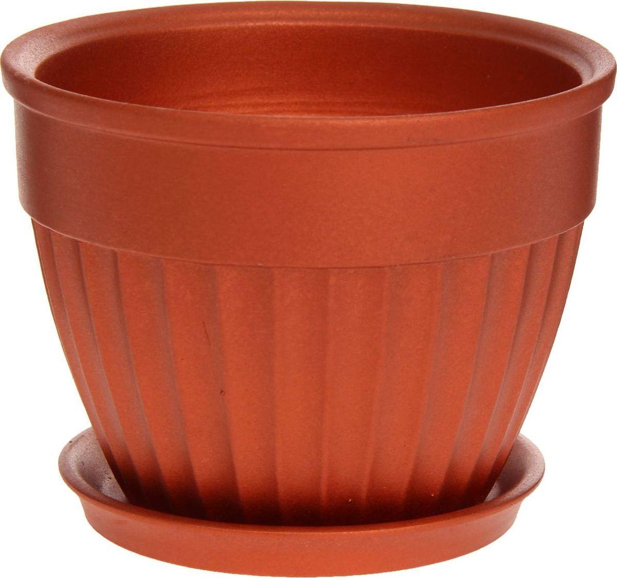 Кашпо Керамика ручной работы Ромашка, цвет: медный, 1 л1170390Комнатные растения — всеобщие любимцы. Они радуют глаз, насыщают помещение кислородом и украшают пространство. Каждому из них необходим свой удобный и красивый дом. Кашпо из керамики прекрасно подходят для высадки растений: за счёт пластичности глины и разных способов обработки существует великое множество форм и дизайновпористый материал позволяет испаряться лишней влагевоздух, необходимый для дыхания корней, проникает сквозь керамические стенки! #name# позаботится о зелёном питомце, освежит интерьер и подчеркнёт его стиль.