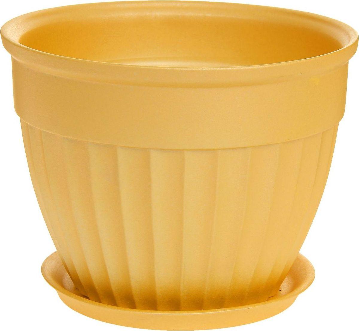 Кашпо Керамика ручной работы Ромашка, цвет: желтый, 33 л1170399Комнатные растения — всеобщие любимцы. Они радуют глаз, насыщают помещение кислородом и украшают пространство. Каждому из них необходим свой удобный и красивый дом. Кашпо из керамики прекрасно подходят для высадки растений: за счёт пластичности глины и разных способов обработки существует великое множество форм и дизайновпористый материал позволяет испаряться лишней влагевоздух, необходимый для дыхания корней, проникает сквозь керамические стенки! #name# позаботится о зелёном питомце, освежит интерьер и подчеркнёт его стиль.