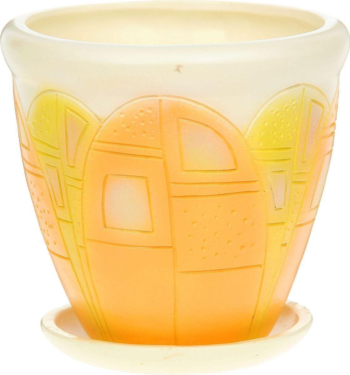 Кашпо Бутон, цвет: желтый, 5 л1172205Комнатные растения — всеобщие любимцы. Они радуют глаз, насыщают помещение кислородом и украшают пространство. Каждому из них необходим свой удобный и красивый дом. Кашпо из керамики прекрасно подходят для высадки растений: за счёт пластичности глины и разных способов обработки существует великое множество форм и дизайновпористый материал позволяет испаряться лишней влагевоздух, необходимый для дыхания корней, проникает сквозь керамические стенки! #name# позаботится о зелёном питомце, освежит интерьер и подчеркнёт его стиль.