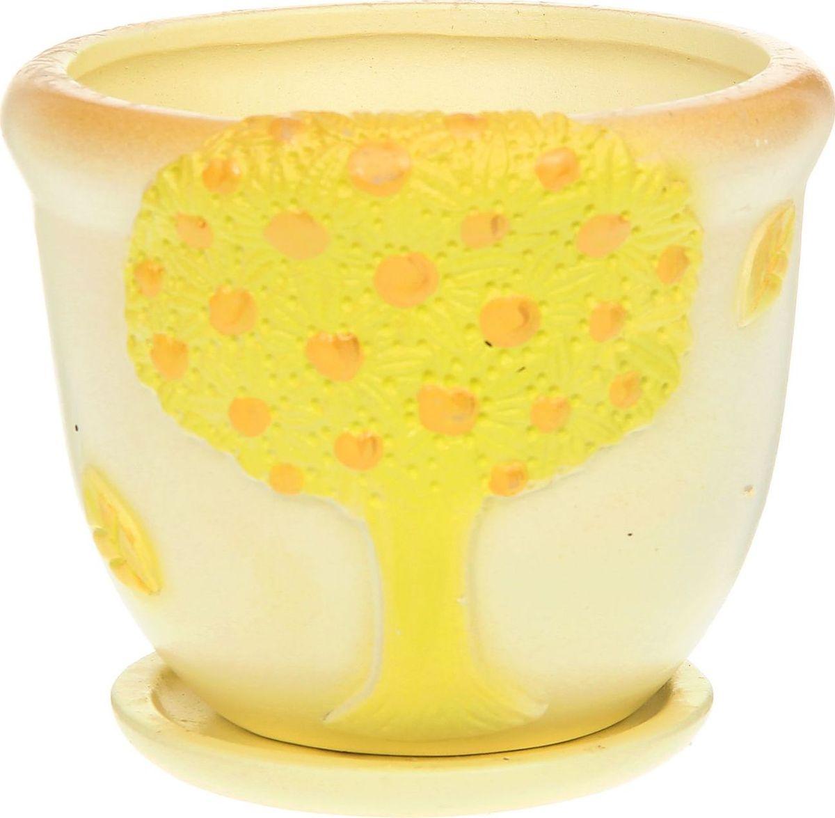 Кашпо Бутон, цвет: желтый, 1,5 л1172217Комнатные растения — всеобщие любимцы. Они радуют глаз, насыщают помещение кислородом и украшают пространство. Каждому из них необходим свой удобный и красивый дом. Кашпо из керамики прекрасно подходят для высадки растений: за счёт пластичности глины и разных способов обработки существует великое множество форм и дизайновпористый материал позволяет испаряться лишней влагевоздух, необходимый для дыхания корней, проникает сквозь керамические стенки! #name# позаботится о зелёном питомце, освежит интерьер и подчеркнёт его стиль.