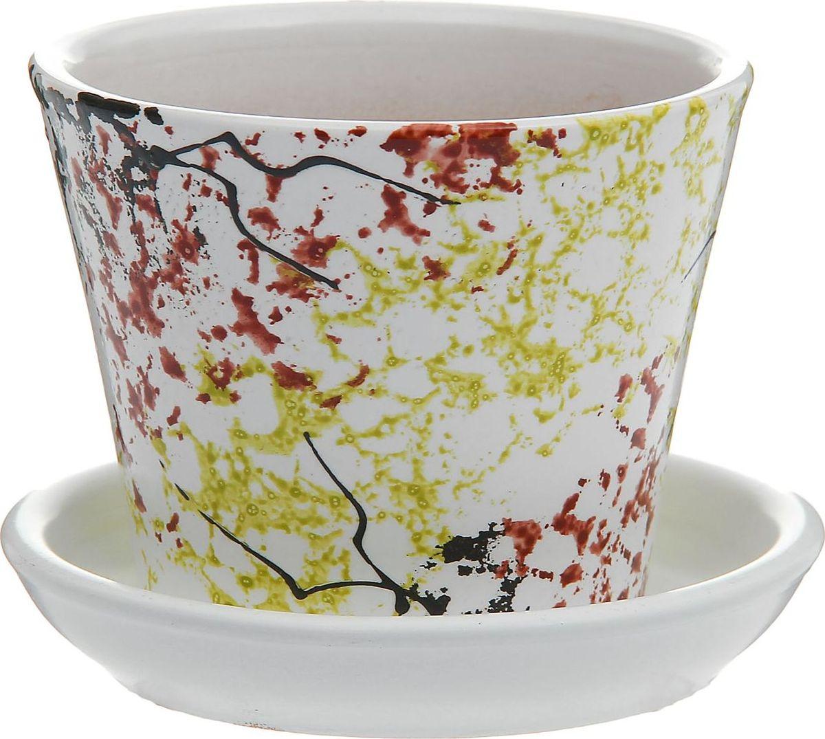 Кашпо Осень, 0,3 л1177410Комнатные растения — всеобщие любимцы. Они радуют глаз, насыщают помещение кислородом и украшают пространство. Каждому из них необходим свой удобный и красивый дом. Кашпо из керамики прекрасно подходят для высадки растений: за счёт пластичности глины и разных способов обработки существует великое множество форм и дизайновпористый материал позволяет испаряться лишней влагевоздух, необходимый для дыхания корней, проникает сквозь керамические стенки! #name# позаботится о зелёном питомце, освежит интерьер и подчеркнёт его стиль.