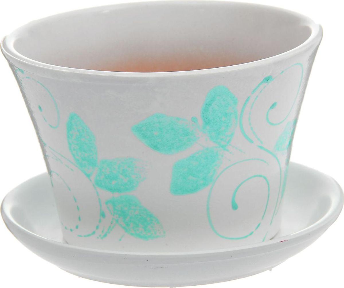 Кашпо Лазурит, цвет: белый, 1,5 л1178673Комнатные растения — всеобщие любимцы. Они радуют глаз, насыщают помещение кислородом и украшают пространство. Каждому из них необходим свой удобный и красивый дом. Кашпо из керамики прекрасно подходят для высадки растений: за счёт пластичности глины и разных способов обработки существует великое множество форм и дизайновпористый материал позволяет испаряться лишней влагевоздух, необходимый для дыхания корней, проникает сквозь керамические стенки! #name# позаботится о зелёном питомце, освежит интерьер и подчеркнёт его стиль.