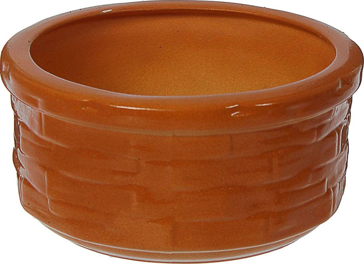 Кашпо Бонсай, цвет: коричневый, 0,8 л1179418