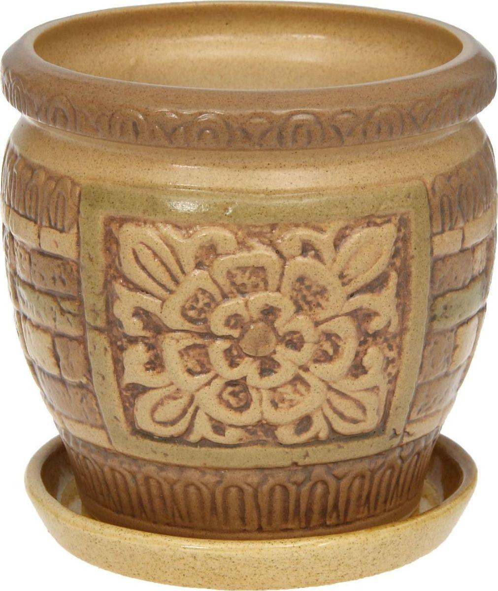 Кашпо Ангкор, 1,25 л1181377Комнатные растения — всеобщие любимцы. Они радуют глаз, насыщают помещение кислородом и украшают пространство. Каждому из них необходим свой удобный и красивый дом. Кашпо из керамики прекрасно подходят для высадки растений: за счёт пластичности глины и разных способов обработки существует великое множество форм и дизайновпористый материал позволяет испаряться лишней влагевоздух, необходимый для дыхания корней, проникает сквозь керамические стенки! #name# позаботится о зелёном питомце, освежит интерьер и подчеркнёт его стиль.