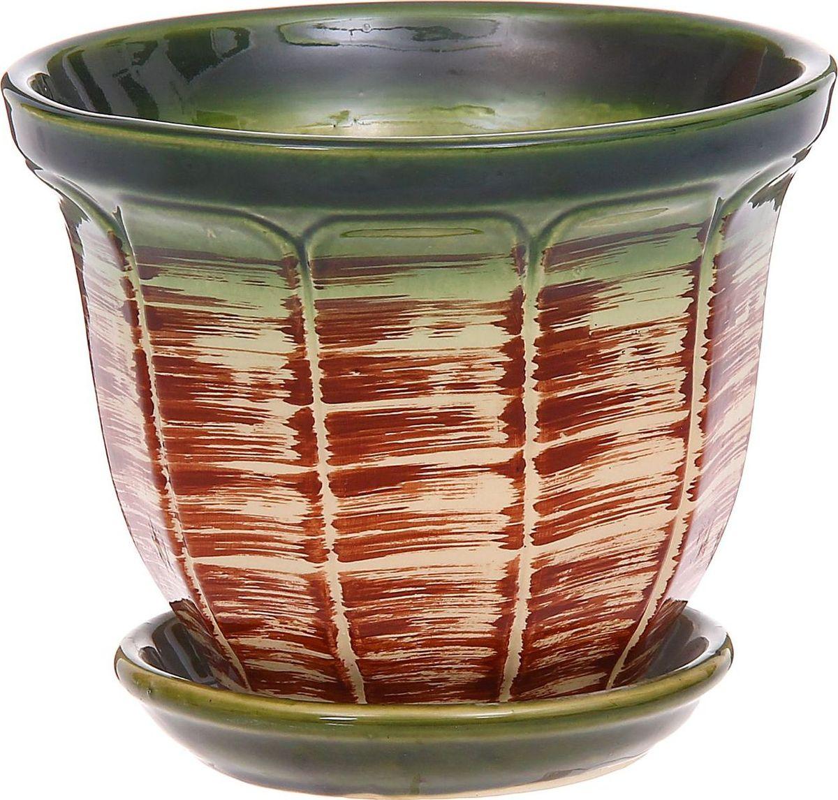 Кашпо Василек, цвет: зеленый, 2 л1185892Комнатные растения — всеобщие любимцы. Они радуют глаз, насыщают помещение кислородом и украшают пространство. Каждому из них необходим свой удобный и красивый дом. Кашпо из керамики прекрасно подходят для высадки растений: за счёт пластичности глины и разных способов обработки существует великое множество форм и дизайновпористый материал позволяет испаряться лишней влагевоздух, необходимый для дыхания корней, проникает сквозь керамические стенки! #name# позаботится о зелёном питомце, освежит интерьер и подчеркнёт его стиль.