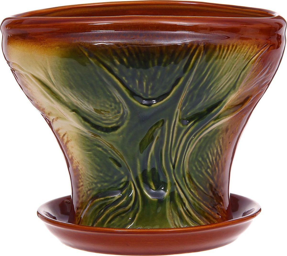Кашпо Дерево жизни, 2,3 л1185895Комнатные растения — всеобщие любимцы. Они радуют глаз, насыщают помещение кислородом и украшают пространство. Каждому из них необходим свой удобный и красивый дом. Кашпо из керамики прекрасно подходят для высадки растений: за счет пластичности глины и разных способов обработки существует великое множество форм и дизайнов пористый материал позволяет испаряться лишней влаге воздух, необходимый для дыхания корней, проникает сквозь керамические стенки! позаботится о зеленом питомце, освежит интерьер и подчеркнет его стиль.