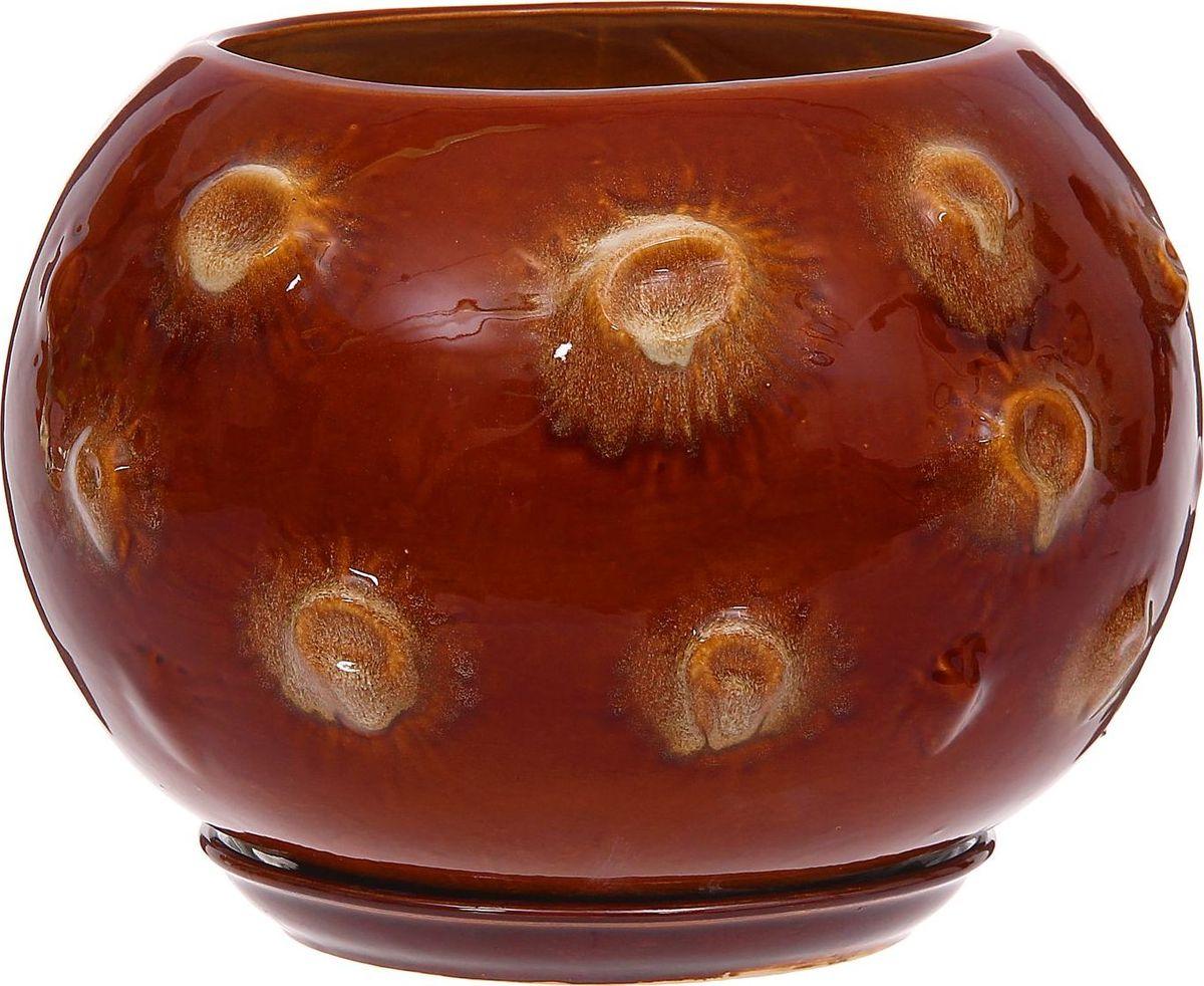 Кашпо Луна, цвет: коричневый, 14 л1185900