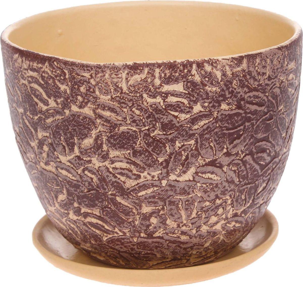 Кашпо Арабика, 2 л1186575Комнатные растения — всеобщие любимцы. Они радуют глаз, насыщают помещение кислородом и украшают пространство. Каждому из них необходим свой удобный и красивый дом. Кашпо из керамики прекрасно подходят для высадки растений: за счет пластичности глины и разных способов обработки существует великое множество форм и дизайнов пористый материал позволяет испаряться лишней влаге воздух, необходимый для дыхания корней, проникает сквозь керамические стенки! позаботится о зеленом питомце, освежит интерьер и подчеркнет его стиль.