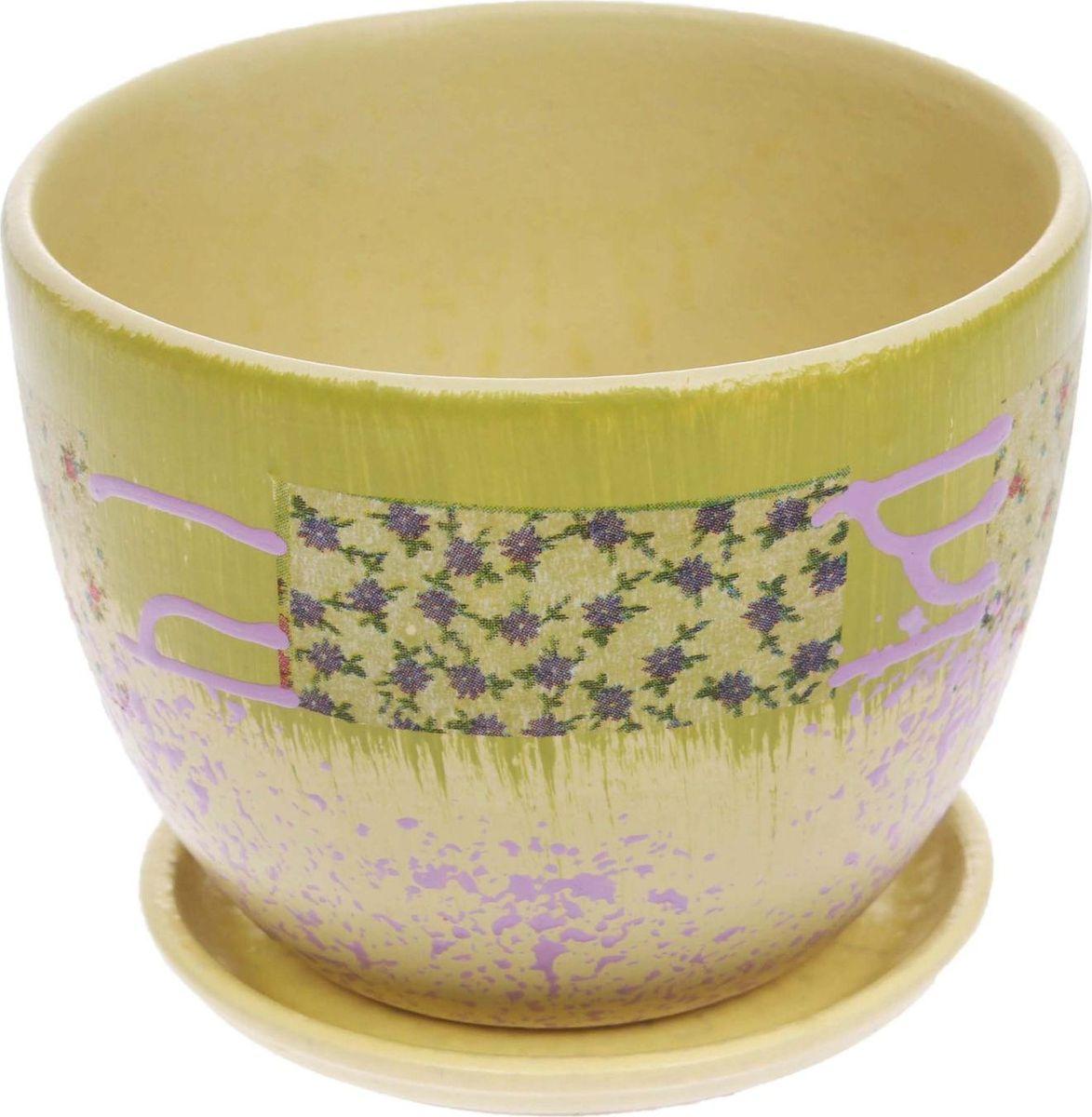 Кашпо Кантри, 0,6 л1186577Комнатные растения — всеобщие любимцы. Они радуют глаз, насыщают помещение кислородом и украшают пространство. Каждому из них необходим свой удобный и красивый дом. Кашпо из керамики прекрасно подходят для высадки растений: за счет пластичности глины и разных способов обработки существует великое множество форм и дизайнов пористый материал позволяет испаряться лишней влаге воздух, необходимый для дыхания корней, проникает сквозь керамические стенки! позаботится о зеленом питомце, освежит интерьер и подчеркнет его стиль.