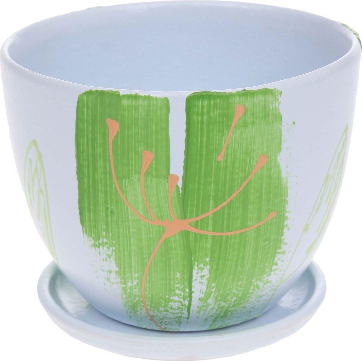 Кашпо Тмин, 0,6 л1186583Комнатные растения — всеобщие любимцы. Они радуют глаз, насыщают помещение кислородом и украшают пространство. Каждому из них необходим свой удобный и красивый дом. Кашпо из керамики прекрасно подходят для высадки растений: за счёт пластичности глины и разных способов обработки существует великое множество форм и дизайновпористый материал позволяет испаряться лишней влагевоздух, необходимый для дыхания корней, проникает сквозь керамические стенки! #name# позаботится о зелёном питомце, освежит интерьер и подчеркнёт его стиль.