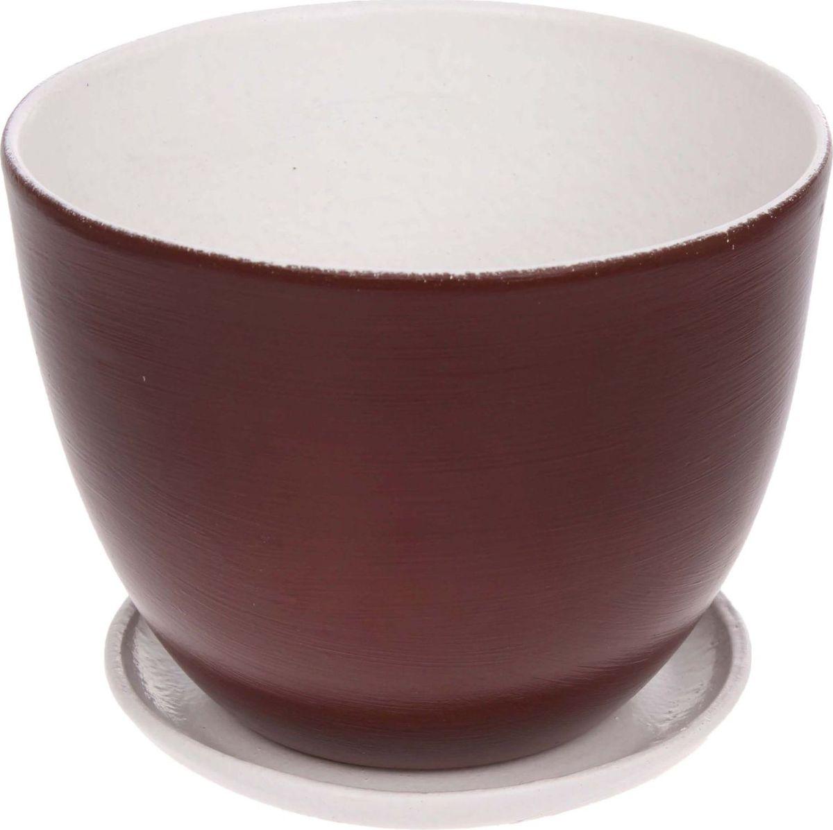 Кашпо Драже, цвет: коричневый, 2 л1186598Комнатные растения — всеобщие любимцы. Они радуют глаз, насыщают помещение кислородом и украшают пространство. Каждому из них необходим свой удобный и красивый дом. Кашпо из керамики прекрасно подходят для высадки растений: за счет пластичности глины и разных способов обработки существует великое множество форм и дизайнов пористый материал позволяет испаряться лишней влаге воздух, необходимый для дыхания корней, проникает сквозь керамические стенки! позаботится о зеленом питомце, освежит интерьер и подчеркнет его стиль.