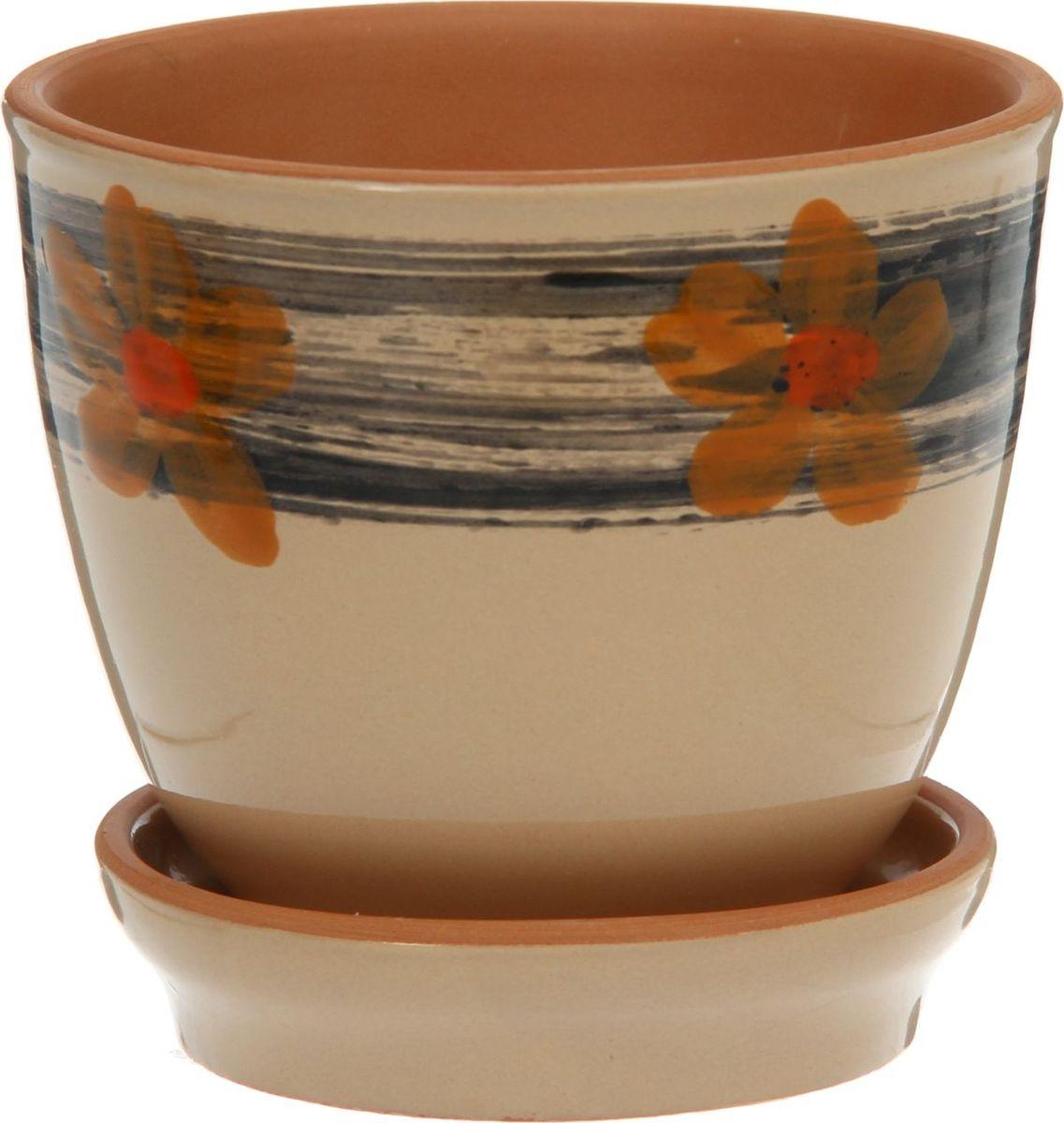 Кашпо Агат. Цветы, цвет: бежевый, 0,5 л1186721Комнатные растения — всеобщие любимцы. Они радуют глаз, насыщают помещение кислородом и украшают пространство. Каждому из них необходим свой удобный и красивый дом. Кашпо из керамики прекрасно подходят для высадки растений: за счёт пластичности глины и разных способов обработки существует великое множество форм и дизайновпористый материал позволяет испаряться лишней влагевоздух, необходимый для дыхания корней, проникает сквозь керамические стенки! #name# позаботится о зелёном питомце, освежит интерьер и подчеркнёт его стиль.
