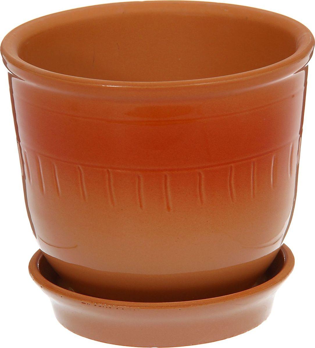 Кашпо Агат, цвет: коричневый, красный, 1 л1186733Комнатные растения — всеобщие любимцы. Они радуют глаз, насыщают помещение кислородом и украшают пространство. Каждому из них необходим свой удобный и красивый дом. Кашпо из керамики прекрасно подходят для высадки растений: за счет пластичности глины и разных способов обработки существует великое множество форм и дизайнов пористый материал позволяет испаряться лишней влаге воздух, необходимый для дыхания корней, проникает сквозь керамические стенки! позаботится о зеленом питомце, освежит интерьер и подчеркнет его стиль.