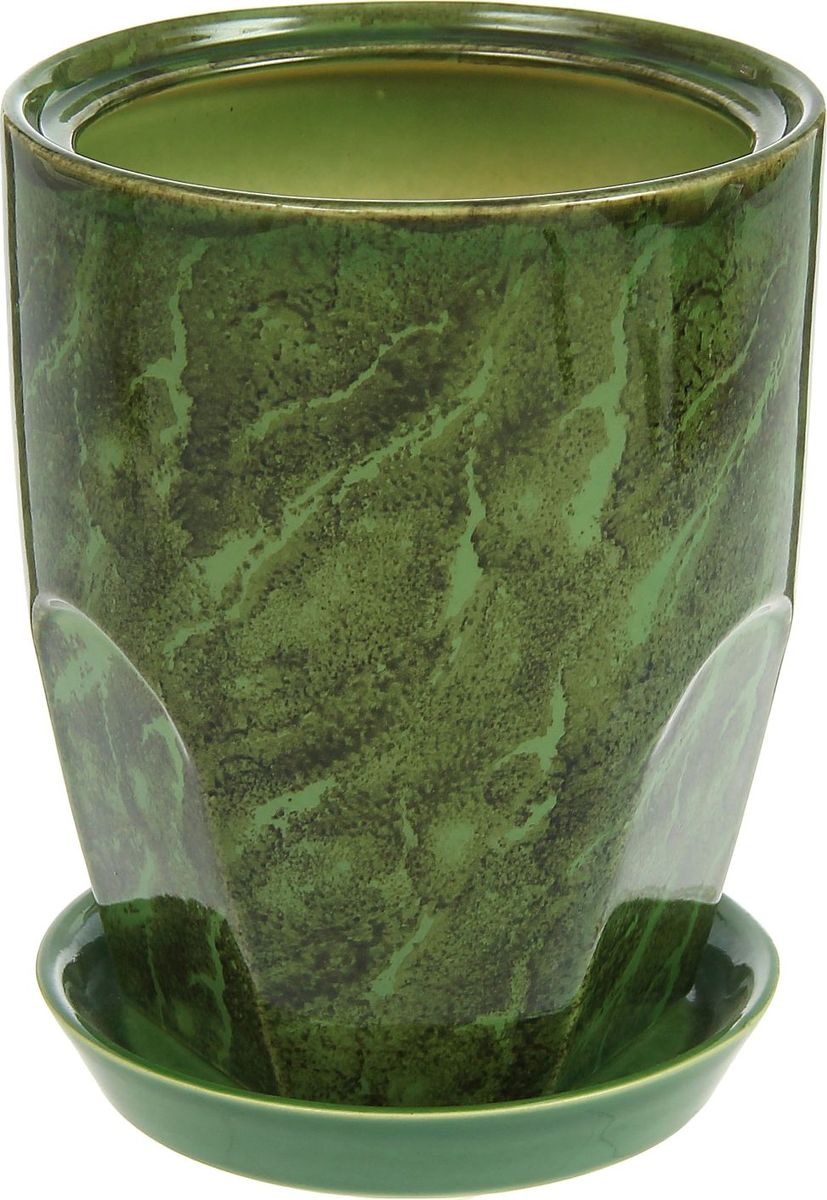 Кашпо Авангард, цвет: зеленый, 2,3 л1210248Комнатные растения — всеобщие любимцы. Они радуют глаз, насыщают помещение кислородом и украшают пространство. Каждому из них необходим свой удобный и красивый дом. Кашпо из керамики прекрасно подходят для высадки растений: за счет пластичности глины и разных способов обработки существует великое множество форм и дизайнов пористый материал позволяет испаряться лишней влаге воздух, необходимый для дыхания корней, проникает сквозь керамические стенки! позаботится о зеленом питомце, освежит интерьер и подчеркнет его стиль.