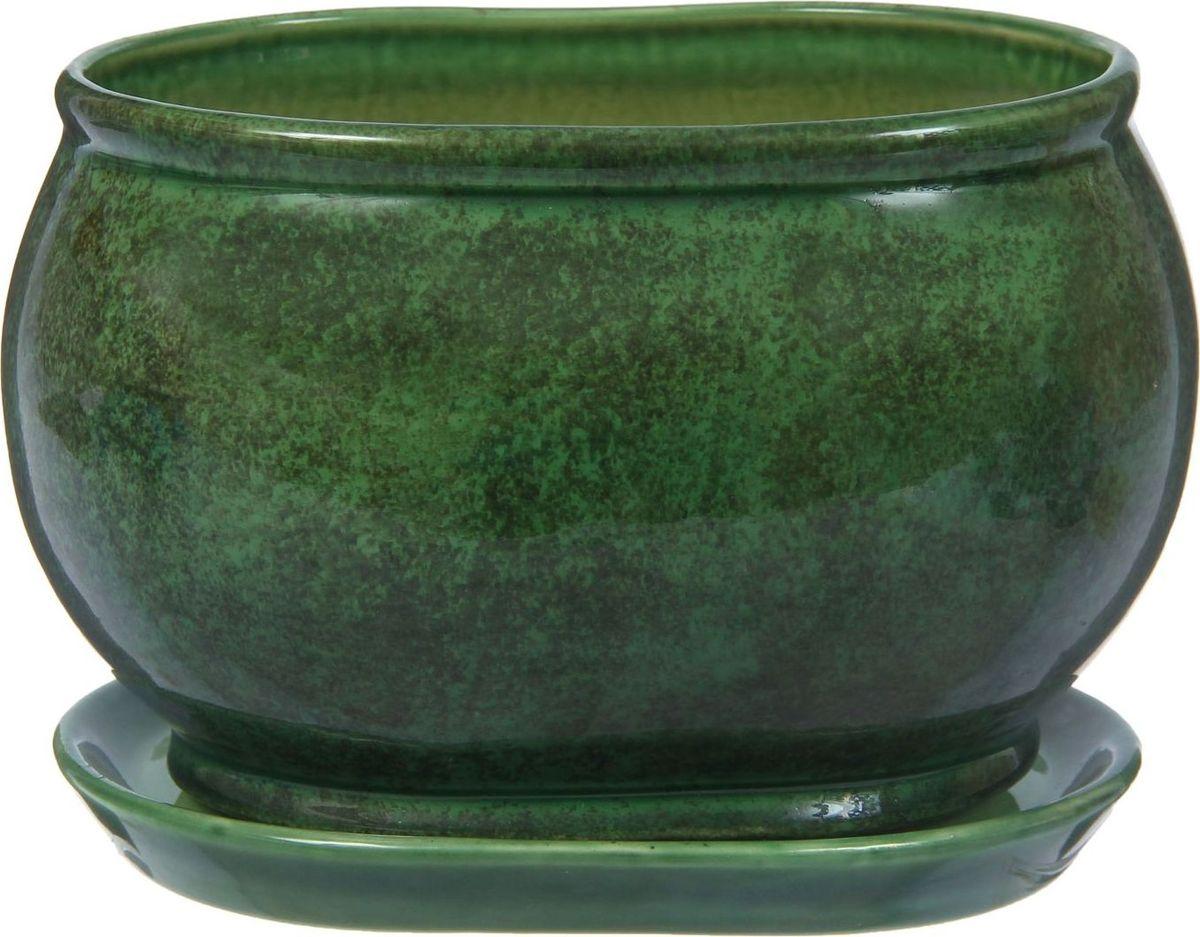 Кашпо Танго, цвет: зеленый, 3,65 л1210277Декоративное кашпо, выполненное из высококачественной керамики, предназначено для посадки декоративных растений и станет прекрасным украшением для дома. Пористый материал позволяет испаряться лишней влаге, а воздух, необходимый для дыхания корней, проникает сквозь керамические стенки. Такое кашпо украсит окружающее пространство и подчеркнет его оригинальный стиль.