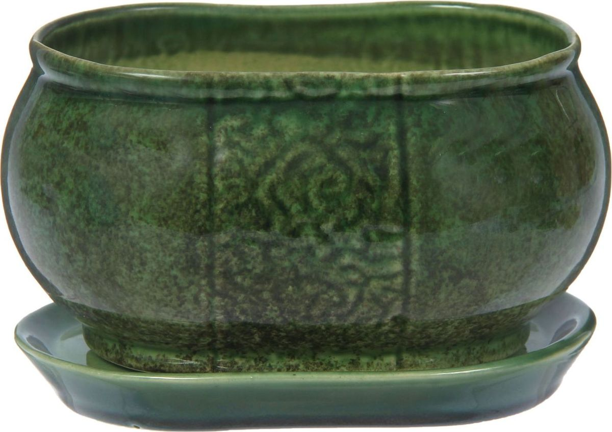 Кашпо Танго, цвет: зеленый, 1,1 л1210278