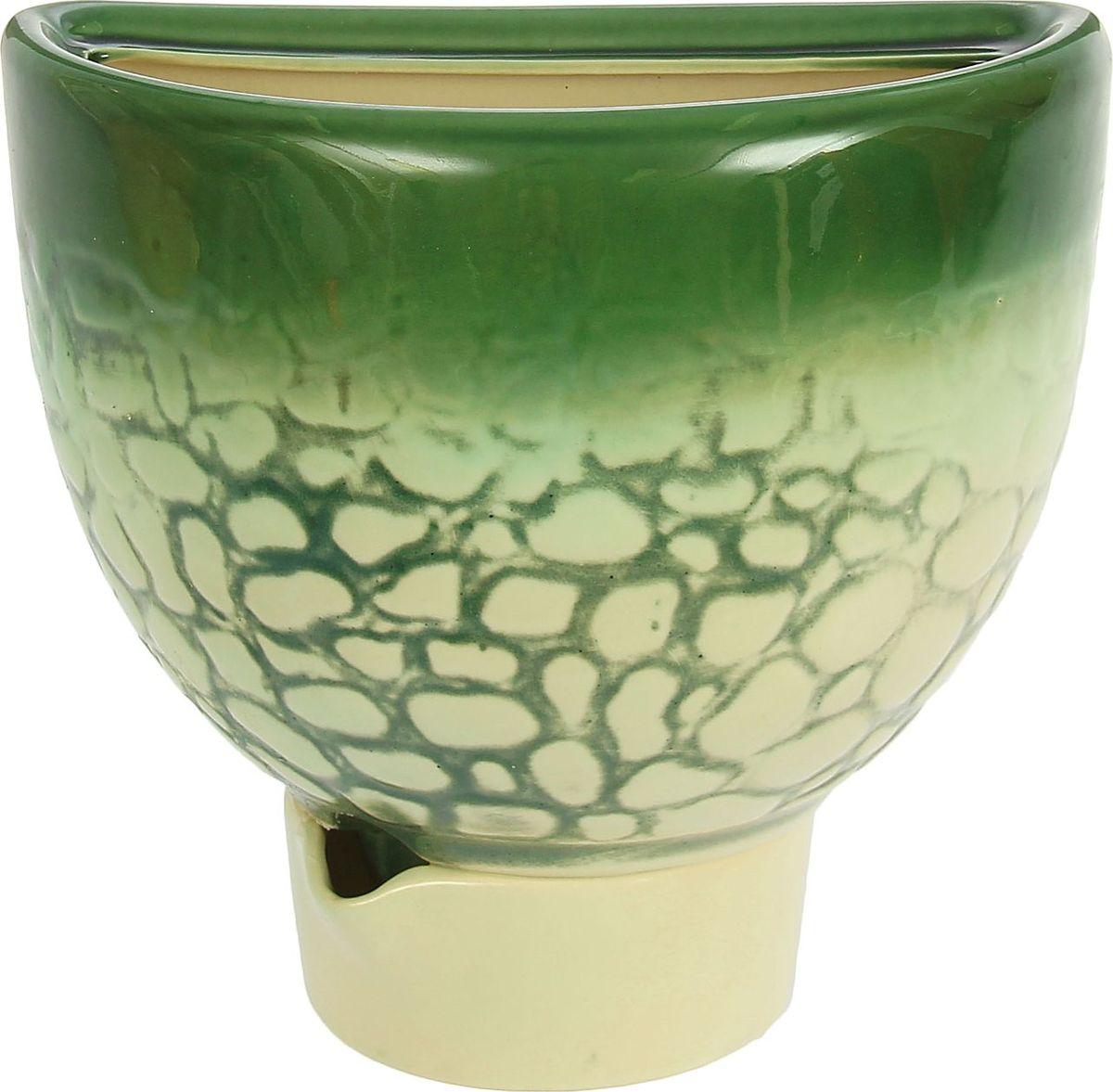Кашпо Эра, цвет: зеленый, 3,4 л1210286Комнатные растения — всеобщие любимцы. Они радуют глаз, насыщают помещение кислородом и украшают пространство. Каждому из них необходим свой удобный и красивый дом. Кашпо из керамики прекрасно подходят для высадки растений: за счет пластичности глины и разных способов обработки существует великое множество форм и дизайнов пористый материал позволяет испаряться лишней влаге воздух, необходимый для дыхания корней, проникает сквозь керамические стенки! позаботится о зеленом питомце, освежит интерьер и подчеркнет его стиль.