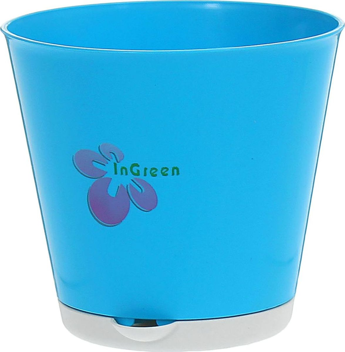 Горшок InGreen Крит, с системой прикорневого полива, цвет: голубой, 0,7 л1218929Любой, даже самый современный и продуманный интерьер будет не завершённым без растений. Они не только очищают воздух и насыщают его кислородом, но и заметно украшают окружающее пространство. Такому полезному члену семьи просто необходимо красивое и функциональное кашпо, оригинальный горшок или необычная ваза! Мы предлагаем - Горшок для цветов 0,7 л с системой прикорневого полива d=12 см Крит, цвет голубой! Оптимальный выбор материала пластмасса! Почему мы так считаем? -Малый вес. С лёгкостью переносите горшки и кашпо с места на место, ставьте их на столики или полки, подвешивайте под потолок, не беспокоясь о нагрузке. -Простота ухода. Пластиковые изделия не нуждаются в специальных условиях хранения. Их легко чистить достаточно просто сполоснуть тёплой водой. -Никаких царапин. Пластиковые кашпо не царапают и не загрязняют поверхности, на которых стоят. -Пластик дольше хранит влагу, а значит растение реже нуждается в поливе. -Пластмасса не пропускает воздух корневой системе растения не грозят резкие перепады температур. -Огромный выбор форм, декора и расцветок вы без труда подберёте что-то, что идеально впишется в уже существующий интерьер. Соблюдая нехитрые правила ухода, вы можете заметно продлить срок службы горшков, вазонов и кашпо из пластика: -всегда учитывайте размер кроны и корневой системы растения (при разрастании большое растение способно повредить маленький горшок)-берегите изделие от воздействия прямых солнечных лучей, чтобы кашпо и горшки не выцветали-держите кашпо и горшки из пластика подальше от нагревающихся поверхностей. Создавайте прекрасные цветочные композиции, выращивайте рассаду или необычные растения, а низкие цены позволят вам не ограничивать себя в выборе.