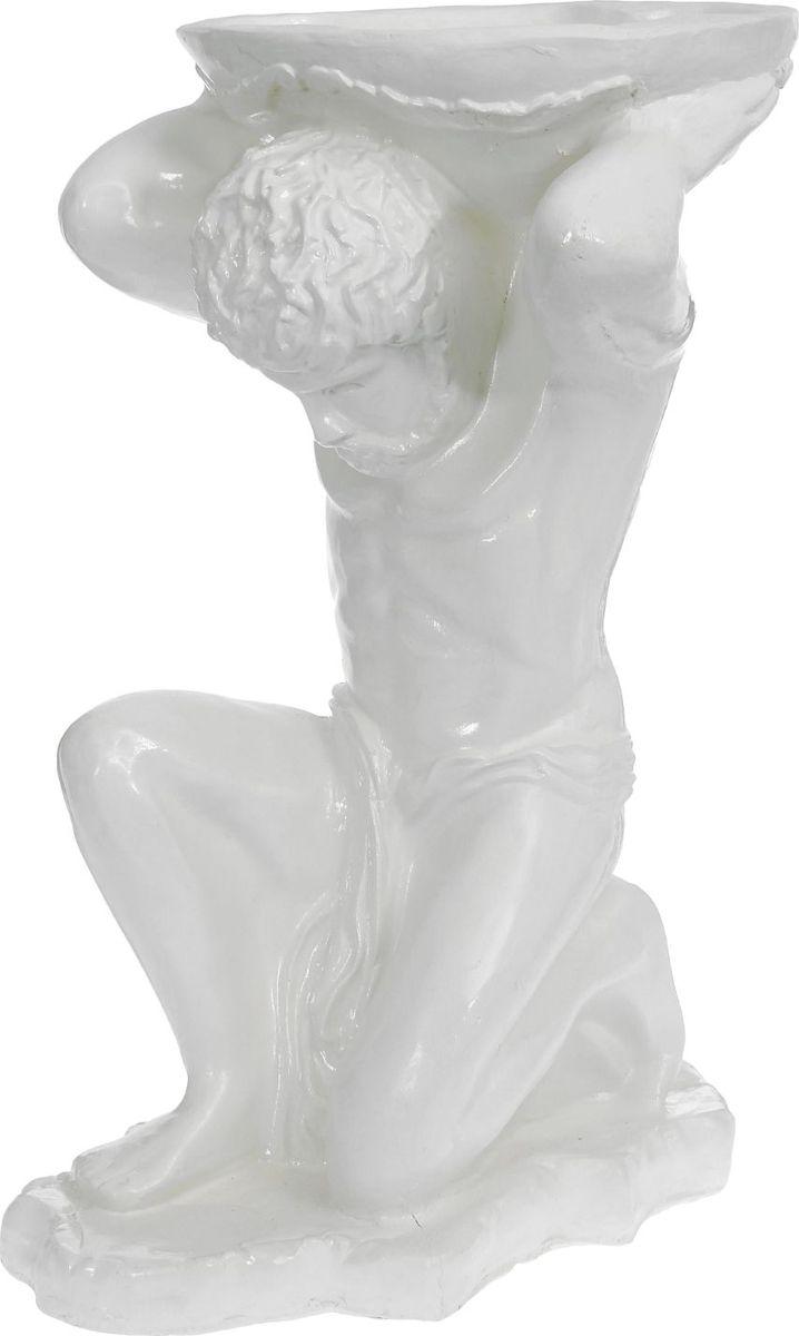 Кашпо Титан, цвет: белый, 40 х 42 х 73 см1219515Комнатные растения — всеобщие любимцы. Они радуют глаз, насыщают помещение кислородом и украшают пространство. Каждому из растений необходим свой удобный и красивый дом. Поселите зелёного питомца в яркое и оригинальное фигурное кашпо. Выберите подходящую форму для детской, спальни, гостиной, балкона, офиса или террасы. #name# позаботится о растении, украсит окружающее пространство и подчеркнёт его оригинальный стиль.
