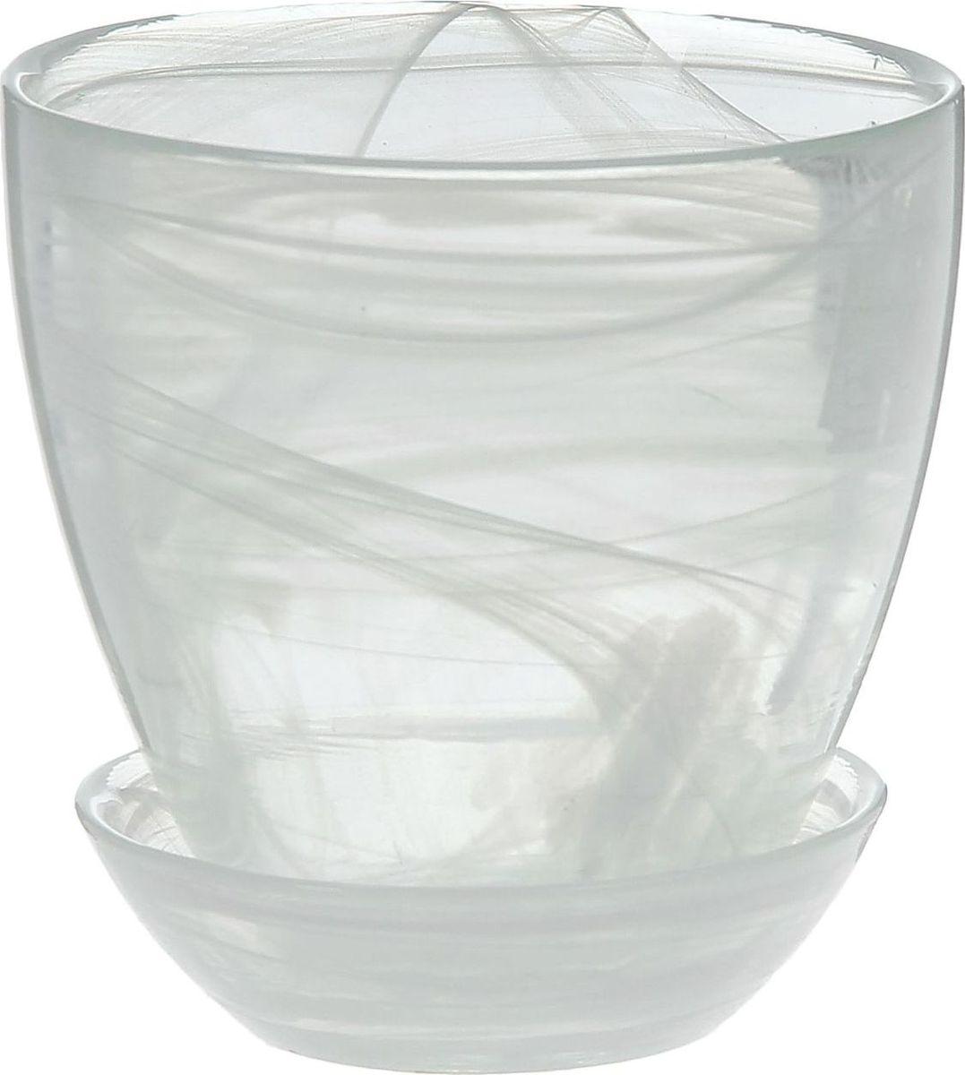 Кашпо NiNaGlass Гармония, с поддоном, цвет: белый, 500 мл1221923Кашпо NiNaGlass Гармония изготовлено из высококачественного стекла и оснащено поддоном для стока воды. Изделие прекрасно подойдет для выращивания растений дома и на приусадебных участках.