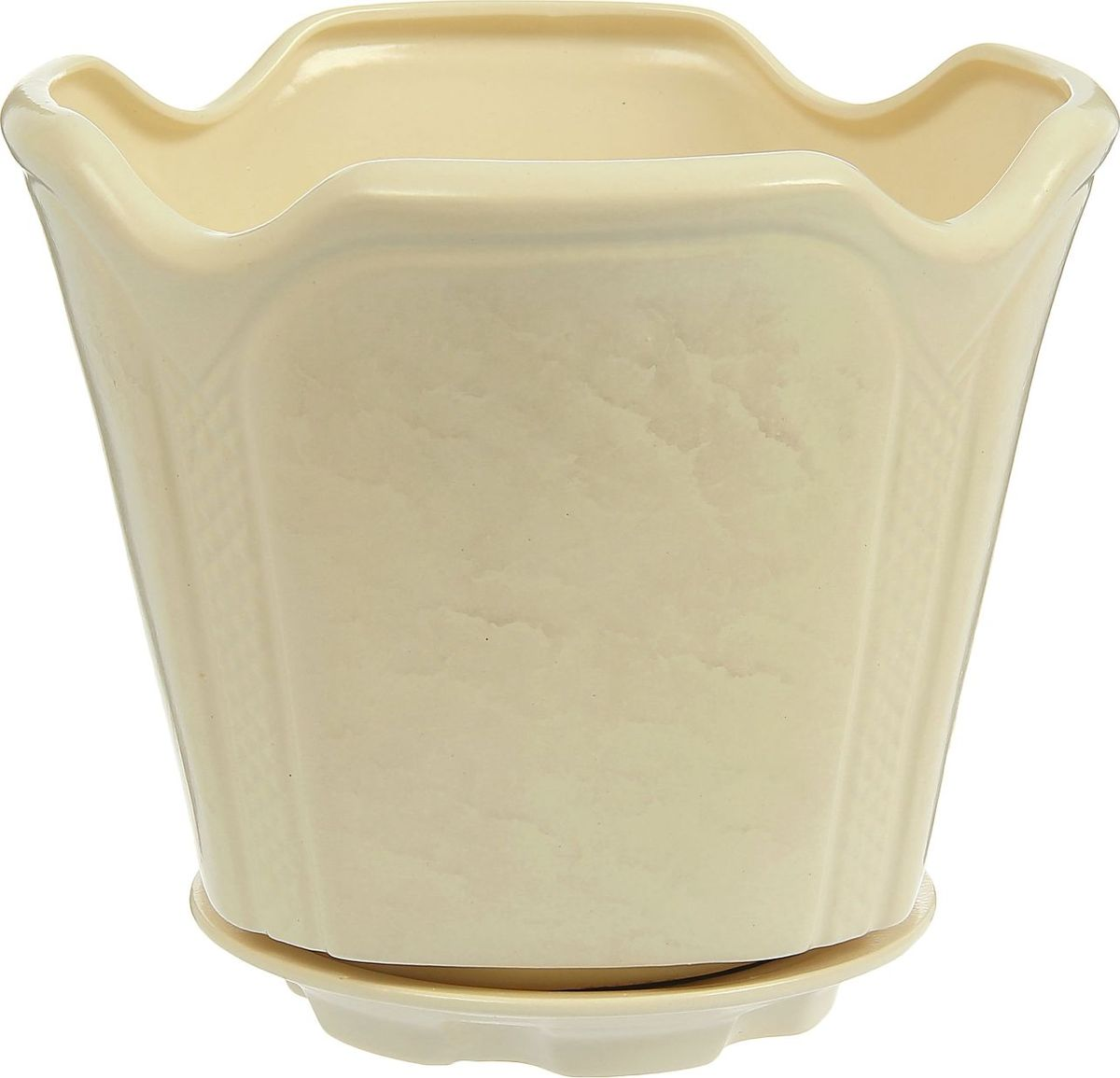 Кашпо Готика, цвет: белый, 7,1 л1239151