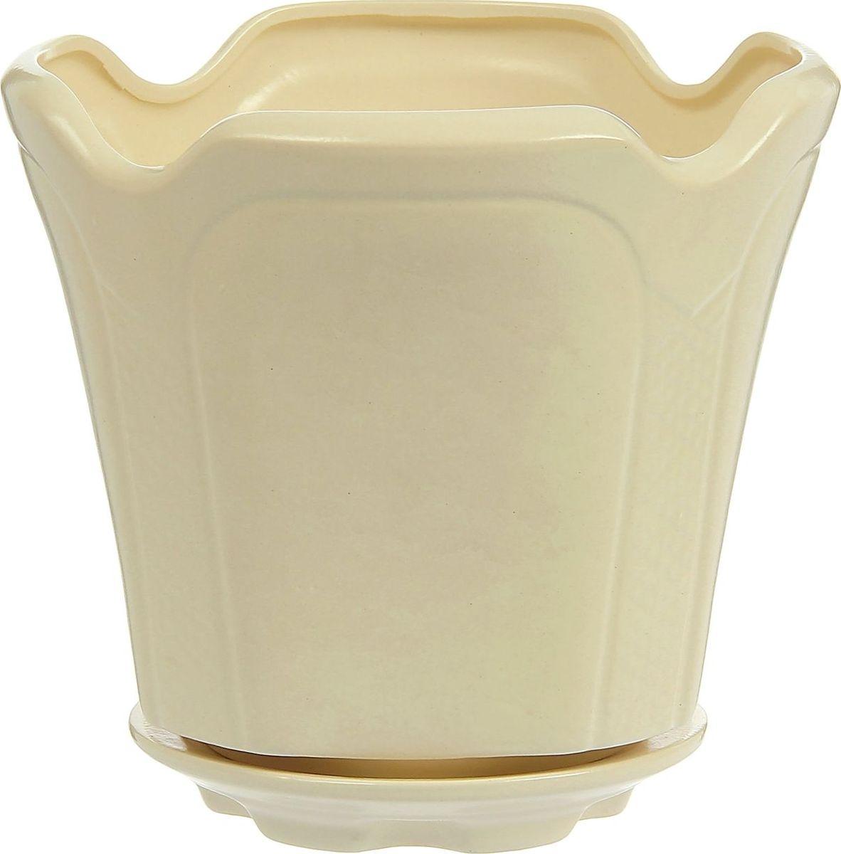 Кашпо Готика, цвет: белый, 3,6 л1239229Комнатные растения — всеобщие любимцы. Они радуют глаз, насыщают помещение кислородом и украшают пространство. Каждому из них необходим свой удобный и красивый дом. Кашпо из керамики прекрасно подходят для высадки растений: за счёт пластичности глины и разных способов обработки существует великое множество форм и дизайновпористый материал позволяет испаряться лишней влагевоздух, необходимый для дыхания корней, проникает сквозь керамические стенки! #name# позаботится о зелёном питомце, освежит интерьер и подчеркнёт его стиль.