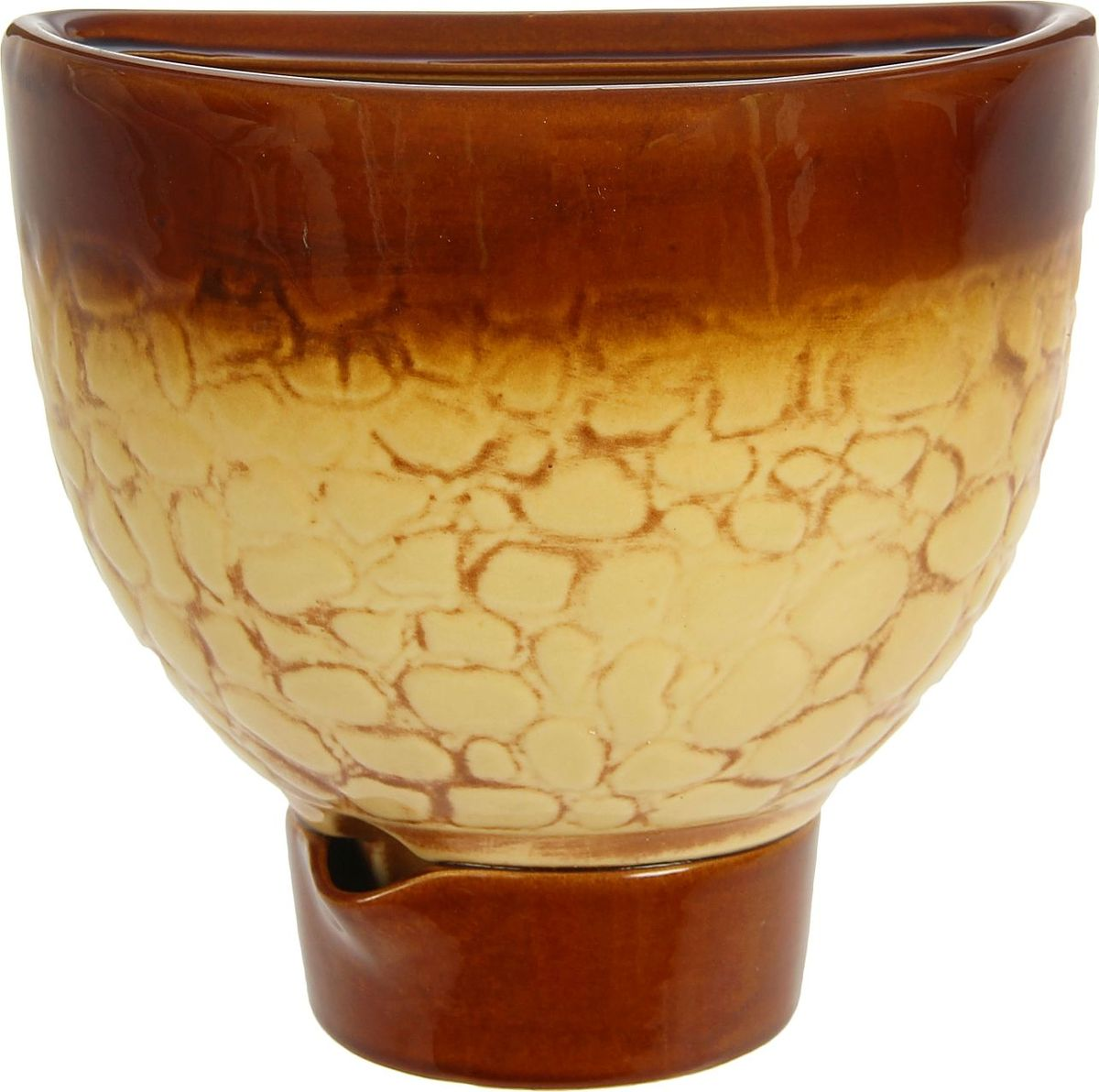 Кашпо Эра, цвет: бежевый, коричневый, 3,4 л1241221Комнатные растения — всеобщие любимцы. Они радуют глаз, насыщают помещение кислородом и украшают пространство. Каждому из них необходим свой удобный и красивый дом. Кашпо из керамики прекрасно подходят для высадки растений: за счет пластичности глины и разных способов обработки существует великое множество форм и дизайнов пористый материал позволяет испаряться лишней влаге воздух, необходимый для дыхания корней, проникает сквозь керамические стенки! позаботится о зеленом питомце, освежит интерьер и подчеркнет его стиль.
