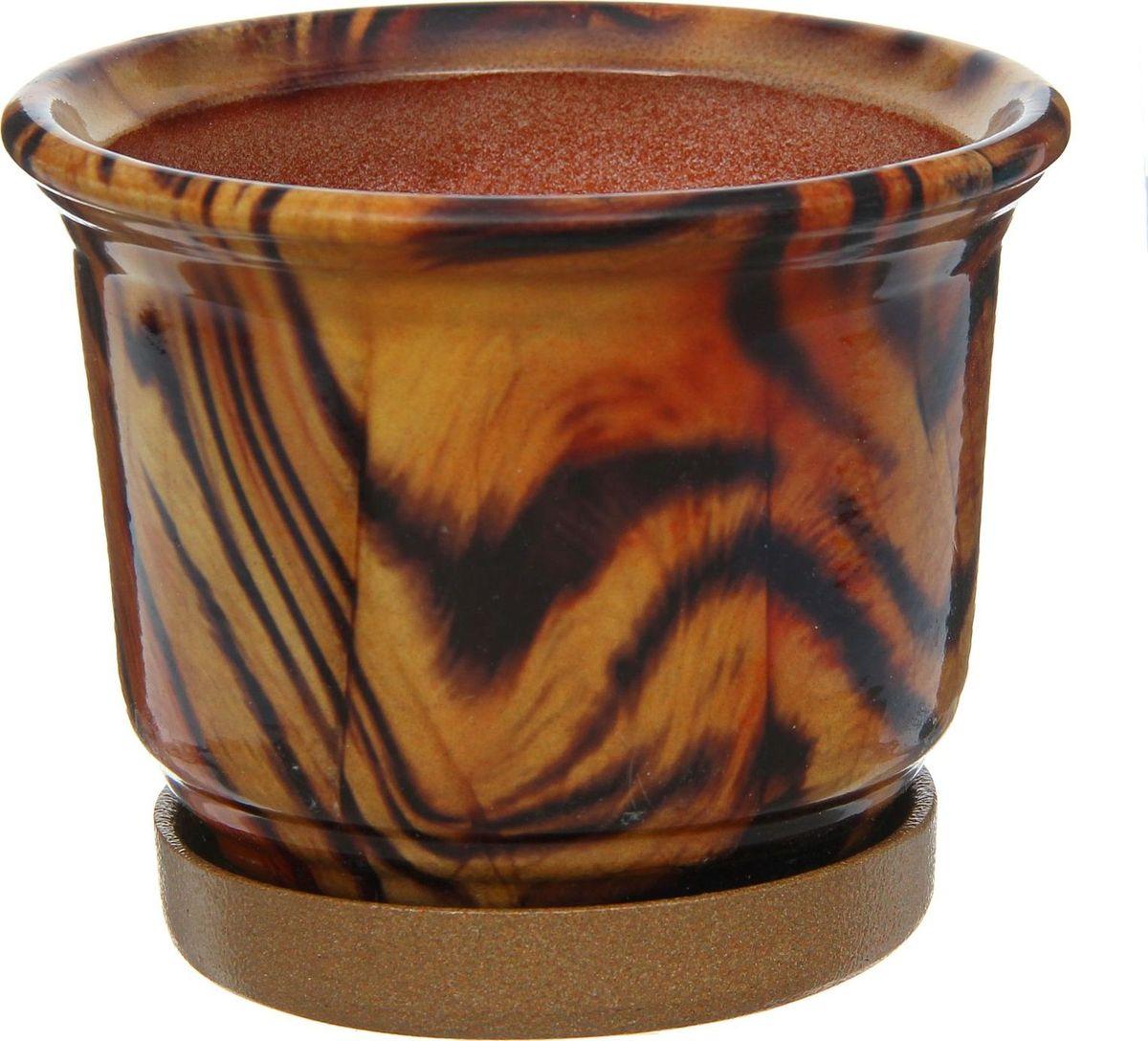 Кашпо Цветник. Ангоб, 0,9 л1253788Комнатные растения — всеобщие любимцы. Они радуют глаз, насыщают помещение кислородом и украшают пространство. Каждому из них необходим свой удобный и красивый дом. Кашпо из керамики прекрасно подходят для высадки растений: за счет пластичности глины и разных способов обработки существует великое множество форм и дизайнов пористый материал позволяет испаряться лишней влаге воздух, необходимый для дыхания корней, проникает сквозь керамические стенки! позаботится о зеленом питомце, освежит интерьер и подчеркнет его стиль.