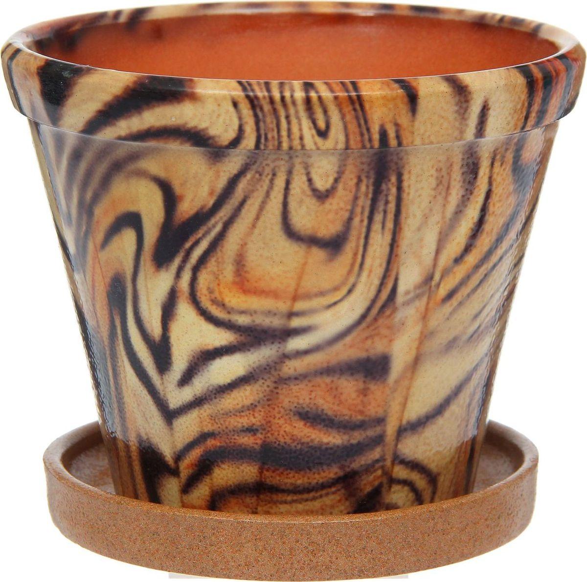 Кашпо Цветник. Ангоб, 1,5 л1253817Комнатные растения — всеобщие любимцы. Они радуют глаз, насыщают помещение кислородом и украшают пространство. Каждому из них необходим свой удобный и красивый дом. Кашпо из керамики прекрасно подходят для высадки растений: за счет пластичности глины и разных способов обработки существует великое множество форм и дизайнов пористый материал позволяет испаряться лишней влаге воздух, необходимый для дыхания корней, проникает сквозь керамические стенки! позаботится о зеленом питомце, освежит интерьер и подчеркнет его стиль.