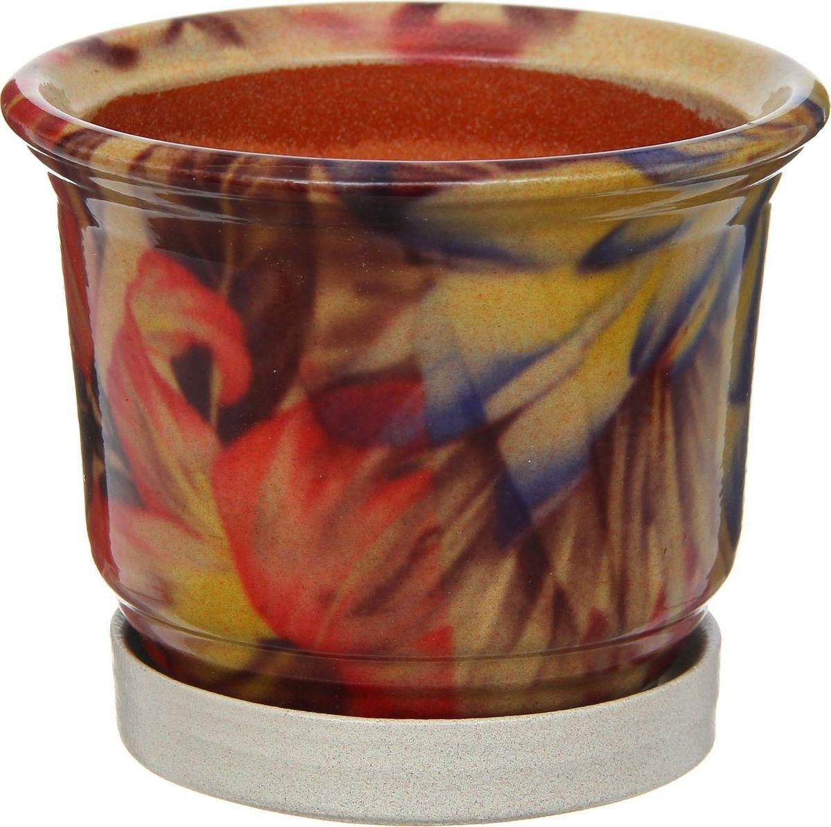 Кашпо Цветник. Лотос, 0,9 л1253868Комнатные растения — всеобщие любимцы. Они радуют глаз, насыщают помещение кислородом и украшают пространство. Каждому из них необходим свой удобный и красивый дом. Кашпо из керамики прекрасно подходят для высадки растений: за счет пластичности глины и разных способов обработки существует великое множество форм и дизайнов пористый материал позволяет испаряться лишней влаге воздух, необходимый для дыхания корней, проникает сквозь керамические стенки! позаботится о зеленом питомце, освежит интерьер и подчеркнет его стиль.