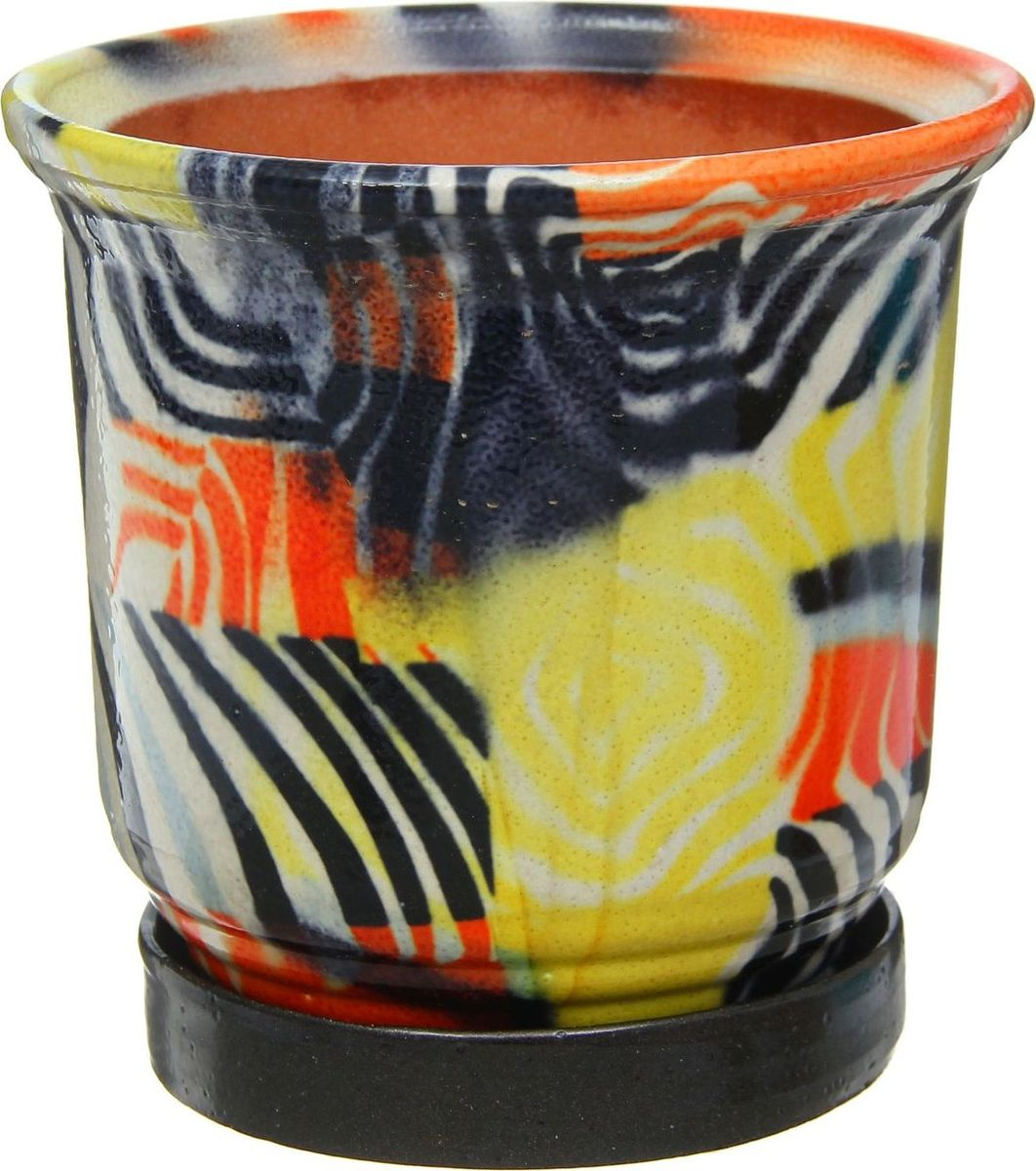 Кашпо Цветник. Зебра, 1 л1253875Комнатные растения — всеобщие любимцы. Они радуют глаз, насыщают помещение кислородом и украшают пространство. Каждому из них необходим свой удобный и красивый дом. Кашпо из керамики прекрасно подходят для высадки растений: за счет пластичности глины и разных способов обработки существует великое множество форм и дизайнов пористый материал позволяет испаряться лишней влаге воздух, необходимый для дыхания корней, проникает сквозь керамические стенки! позаботится о зеленом питомце, освежит интерьер и подчеркнет его стиль.