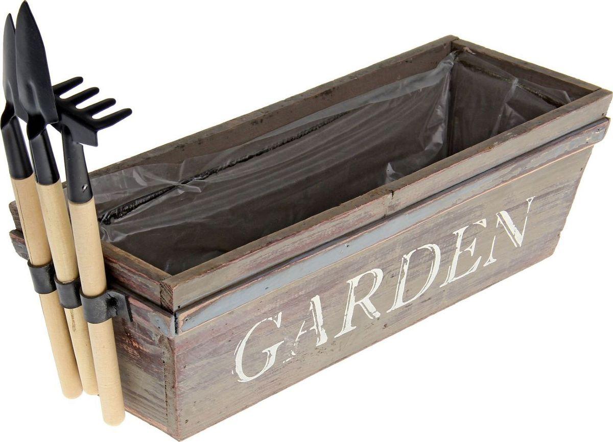 Кашпо Набор инструментов, 10 х 12 х 31 см1259113Комнатные растения — всеобщие любимцы. Они радуют глаз, насыщают помещение кислородом и украшают пространство. Каждому из растений необходим свой удобный и красивый дом. Милые деревянные изделия наполнят атмосферу уютом и придадут интерьеру стильную ноту. Особенно выигрышно #name# будет смотреться в экстерьере: на террасах и в беседках. К тому же, цветочкам очень понравится расти в такой подставке из натурального дерева. Добавьте окружающему пространству чуточку прованса!