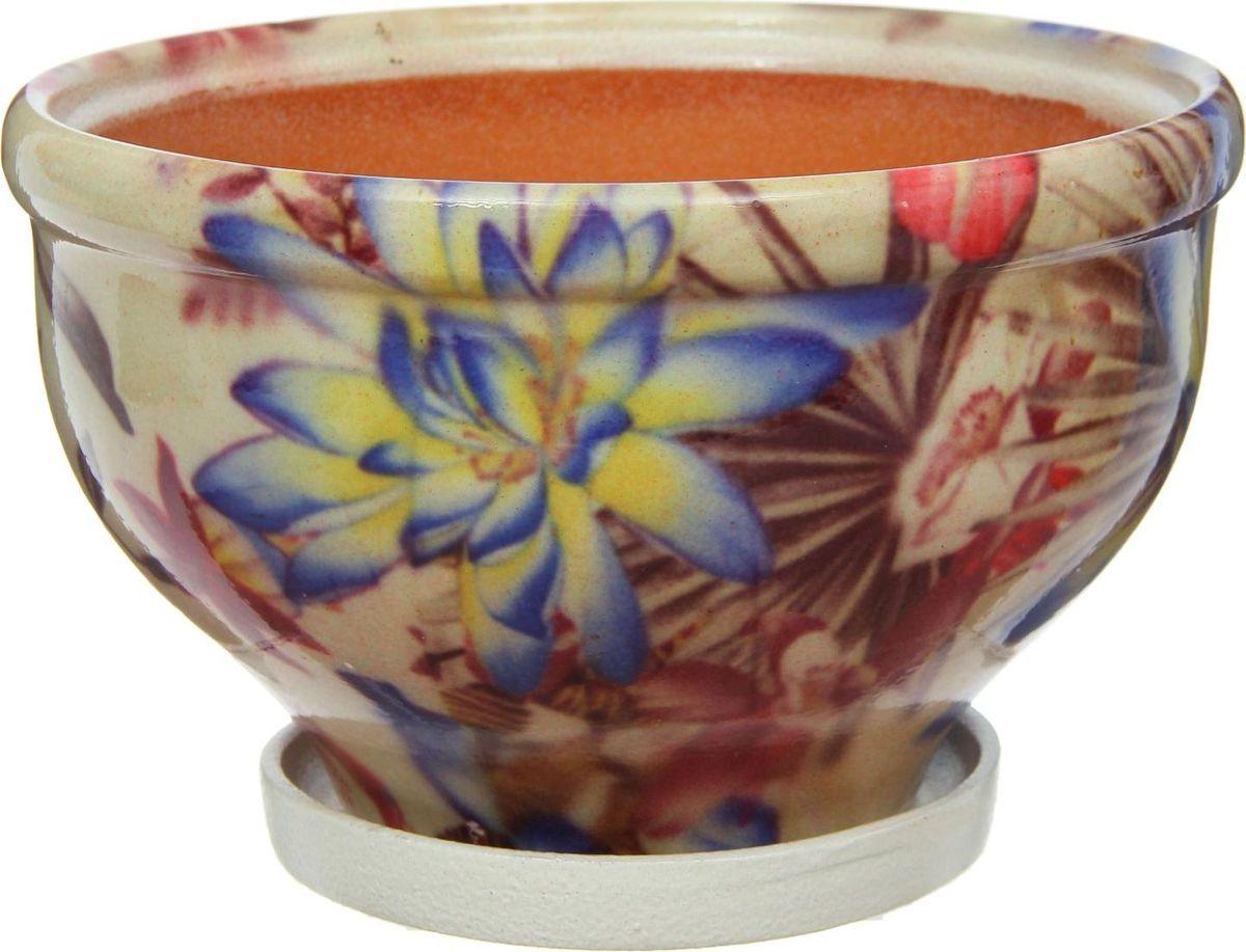 Кашпо Лотос, цвет: кремовый, 2,5 л1267401Комнатные растения — всеобщие любимцы. Они радуют глаз, насыщают помещение кислородом и украшают пространство. Каждому из них необходим свой удобный и красивый дом. Кашпо из керамики прекрасно подходят для высадки растений: за счет пластичности глины и разных способов обработки существует великое множество форм и дизайнов пористый материал позволяет испаряться лишней влаге воздух, необходимый для дыхания корней, проникает сквозь керамические стенки! позаботится о зеленом питомце, освежит интерьер и подчеркнет его стиль.