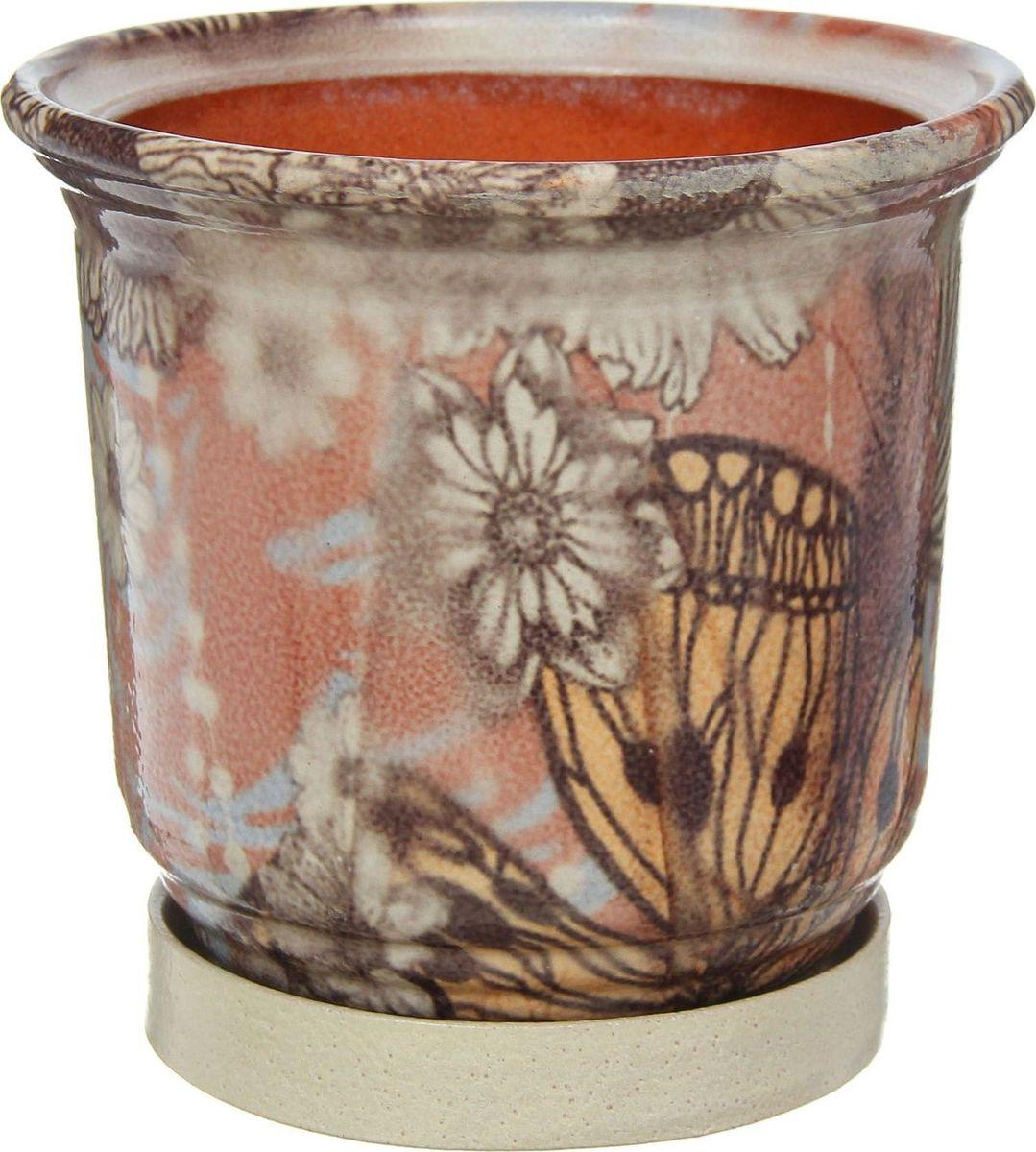 Кашпо Бабочки, 1,3 л1267406Комнатные растения — всеобщие любимцы. Они радуют глаз, насыщают помещение кислородом и украшают пространство. Каждому из них необходим свой удобный и красивый дом. Кашпо из керамики прекрасно подходят для высадки растений: за счет пластичности глины и разных способов обработки существует великое множество форм и дизайнов пористый материал позволяет испаряться лишней влаге воздух, необходимый для дыхания корней, проникает сквозь керамические стенки! позаботится о зеленом питомце, освежит интерьер и подчеркнет его стиль.