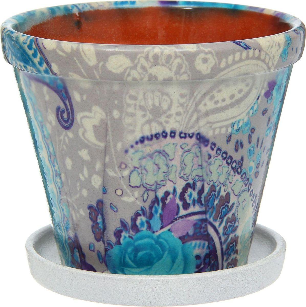 Кашпо Гамма. Розы, цвет: синий, 1,5 л1267407Комнатные растения — всеобщие любимцы. Они радуют глаз, насыщают помещение кислородом и украшают пространство. Каждому из них необходим свой удобный и красивый дом. Кашпо из керамики прекрасно подходят для высадки растений: за счёт пластичности глины и разных способов обработки существует великое множество форм и дизайновпористый материал позволяет испаряться лишней влагевоздух, необходимый для дыхания корней, проникает сквозь керамические стенки! #name# позаботится о зелёном питомце, освежит интерьер и подчеркнёт его стиль.