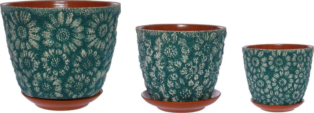 Набор кашпо Гербера, цвет: лагуна, 3 предмета1267494Комнатные растения — всеобщие любимцы. Они радуют глаз, насыщают помещение кислородом и украшают пространство. Каждому из них необходим свой удобный и красивый дом. Кашпо из керамики прекрасно подходят для высадки растений: за счёт пластичности глины и разных способов обработки существует великое множество форм и дизайновпористый материал позволяет испаряться лишней влагевоздух, необходимый для дыхания корней, проникает сквозь керамические стенки! #name# позаботится о зелёном питомце, освежит интерьер и подчеркнёт его стиль.