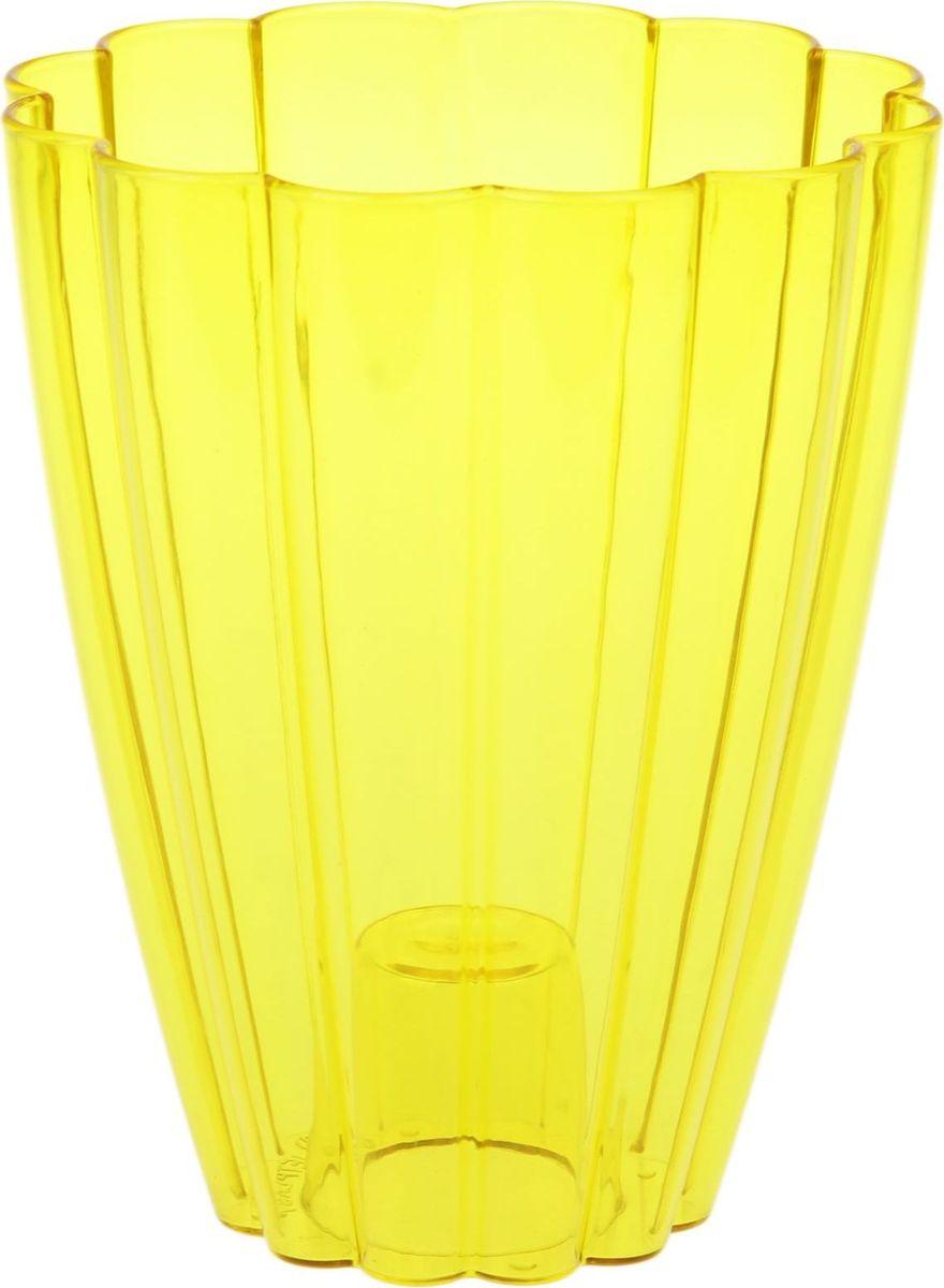 Кашпо JetPlast Тюльпан, цвет: желтый, 1,45 л1295421Любой, даже самый современный и продуманный интерьер будет не завершённым без растений. Они не только очищают воздух и насыщают его кислородом, но и заметно украшают окружающее пространство. Такому полезному &laquo члену семьи&raquoпросто необходимо красивое и функциональное кашпо, оригинальный горшок или необычная ваза! Мы предлагаем - Кашпо 1,45 л Тюльпан, цвет желтый!Оптимальный выбор материала &mdash &nbsp пластмасса! Почему мы так считаем? Малый вес. С лёгкостью переносите горшки и кашпо с места на место, ставьте их на столики или полки, подвешивайте под потолок, не беспокоясь о нагрузке. Простота ухода. Пластиковые изделия не нуждаются в специальных условиях хранения. Их&nbsp легко чистить &mdashдостаточно просто сполоснуть тёплой водой. Никаких царапин. Пластиковые кашпо не царапают и не загрязняют поверхности, на которых стоят. Пластик дольше хранит влагу, а значит &mdashрастение реже нуждается в поливе. Пластмасса не пропускает воздух &mdashкорневой системе растения не грозят резкие перепады температур. Огромный выбор форм, декора и расцветок &mdashвы без труда подберёте что-то, что идеально впишется в уже существующий интерьер.Соблюдая нехитрые правила ухода, вы можете заметно продлить срок службы горшков, вазонов и кашпо из пластика: всегда учитывайте размер кроны и корневой системы растения (при разрастании большое растение способно повредить маленький горшок)берегите изделие от воздействия прямых солнечных лучей, чтобы кашпо и горшки не выцветалидержите кашпо и горшки из пластика подальше от нагревающихся поверхностей.Создавайте прекрасные цветочные композиции, выращивайте рассаду или необычные растения, а низкие цены позволят вам не ограничивать себя в выборе.