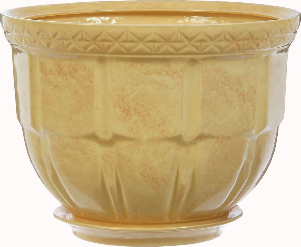 Кашпо Атлант, цвет: бежевый, 14 л1304548Комнатные растения — всеобщие любимцы. Они радуют глаз, насыщают помещение кислородом и украшают пространство. Каждому из них необходим свой удобный и красивый дом. Кашпо из керамики прекрасно подходят для высадки растений: за счёт пластичности глины и разных способов обработки существует великое множество форм и дизайновпористый материал позволяет испаряться лишней влагевоздух, необходимый для дыхания корней, проникает сквозь керамические стенки! #name# позаботится о зелёном питомце, освежит интерьер и подчеркнёт его стиль.