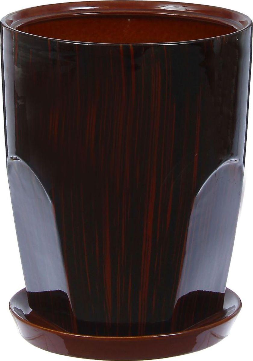 Кашпо Авангард, цвет: коричневый, 9 л1304610