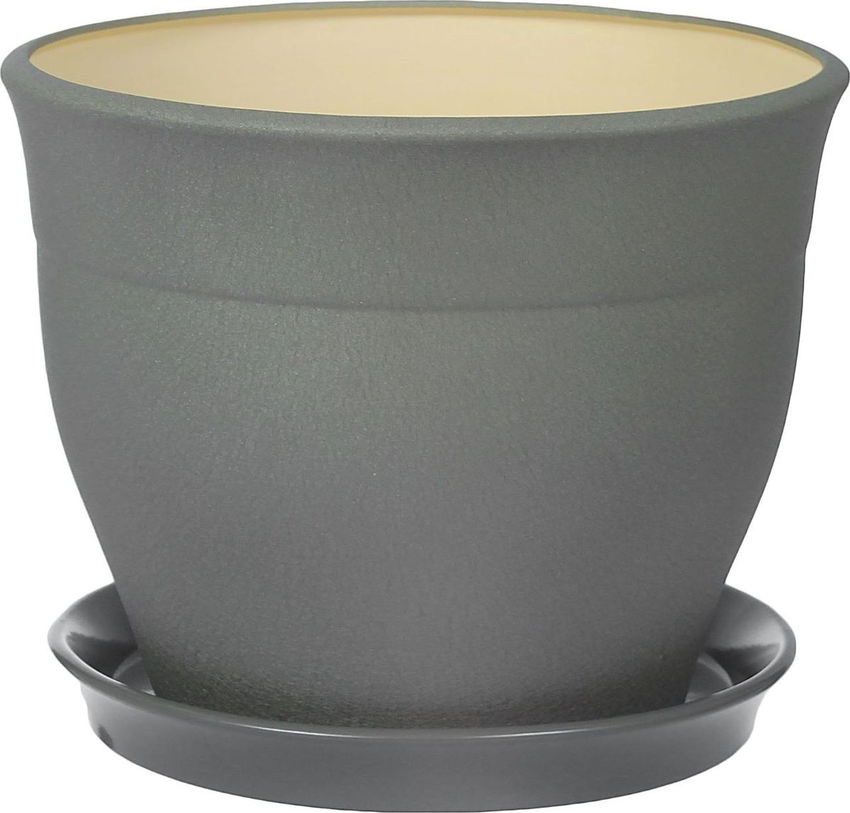 Кашпо Керамика ручной работы Флорис, цвет: серебристый, 12,3 л1309279Комнатные растения — всеобщие любимцы. Они радуют глаз, насыщают помещение кислородом и украшают пространство. Каждому из них необходим свой удобный и красивый дом. Кашпо из керамики прекрасно подходят для высадки растений: за счет пластичности глины и разных способов обработки существует великое множество форм и дизайнов пористый материал позволяет испаряться лишней влаге воздух, необходимый для дыхания корней, проникает сквозь керамические стенки! Кашпо позаботится о зеленом питомце, освежит интерьер и подчеркнет его стиль.