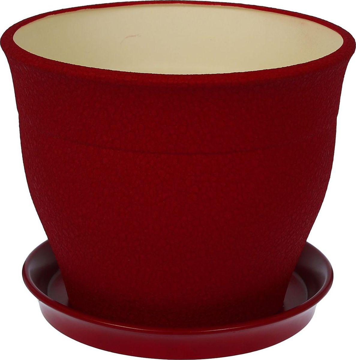 Кашпо Керамика ручной работы Флорис, цвет: бордовый, 12,3 л