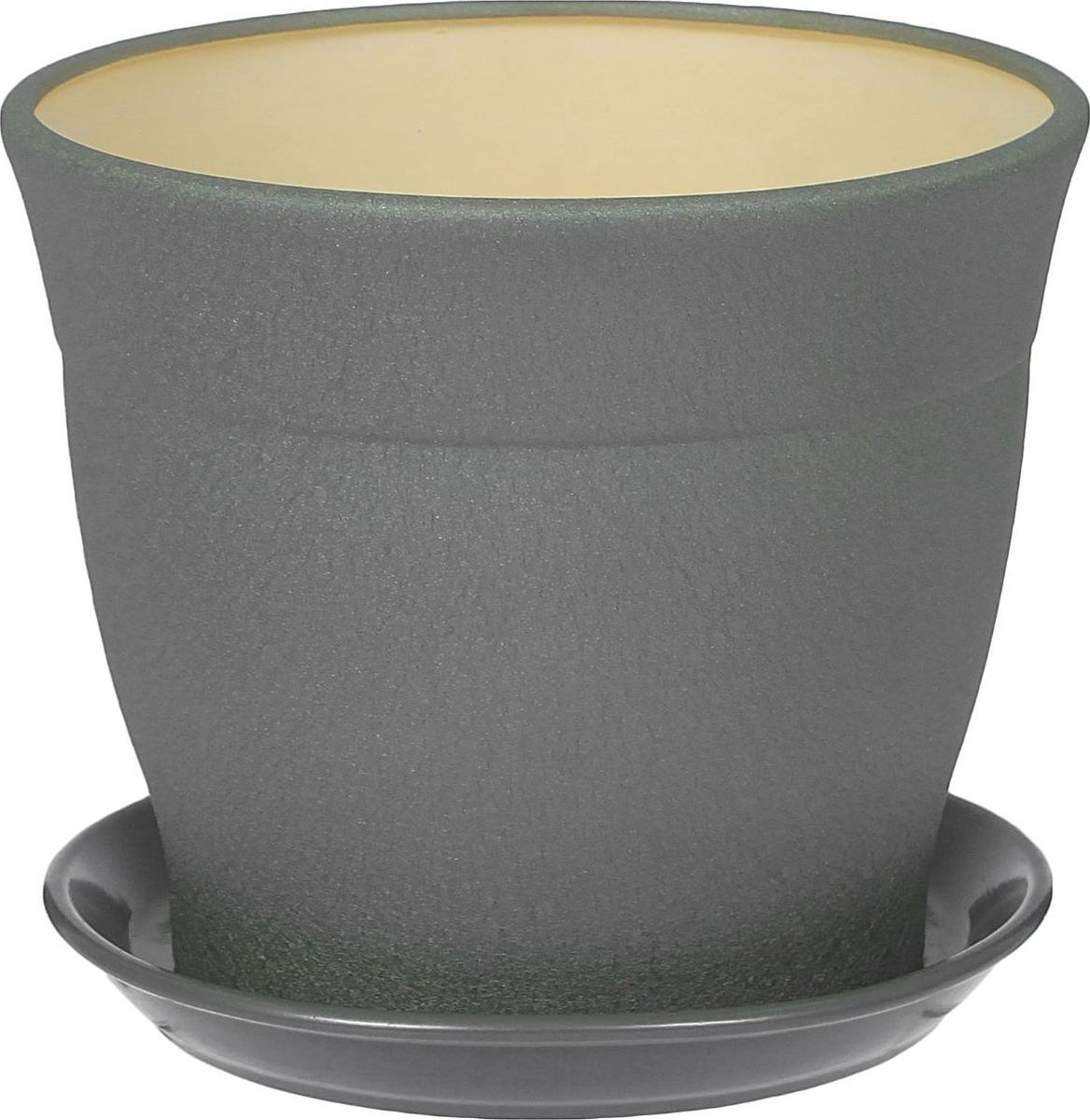 Кашпо Керамика ручной работы Флорис, цвет: серебристый, 5,5 л1309282Комнатные растения — всеобщие любимцы. Они радуют глаз, насыщают помещение кислородом и украшают пространство. Каждому из них необходим свой удобный и красивый дом. Кашпо из керамики прекрасно подходят для высадки растений: за счёт пластичности глины и разных способов обработки существует великое множество форм и дизайновпористый материал позволяет испаряться лишней влагевоздух, необходимый для дыхания корней, проникает сквозь керамические стенки! #name# позаботится о зелёном питомце, освежит интерьер и подчеркнёт его стиль.