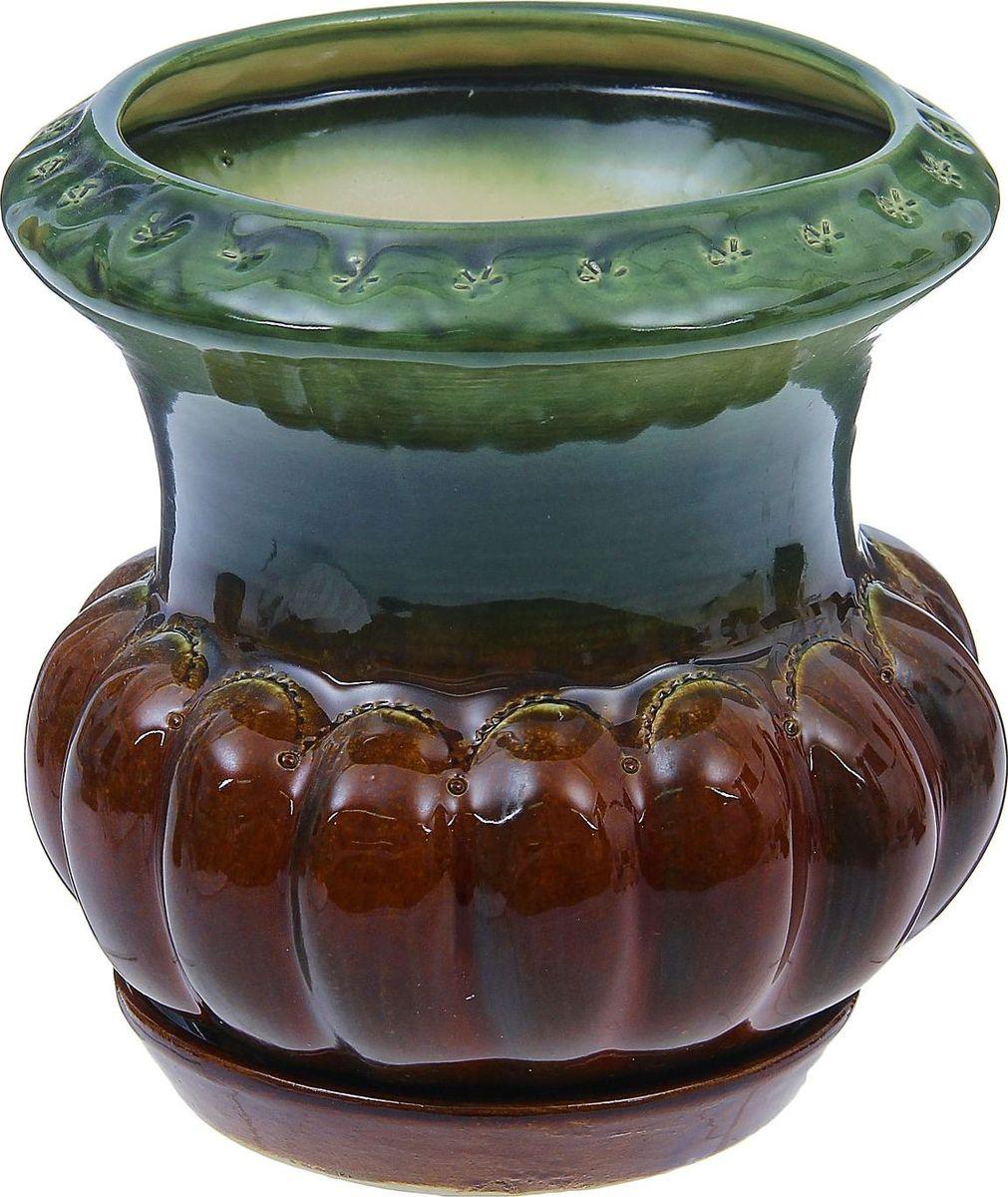 Кашпо Июнь, 1,5 л1319650Комнатные растения — всеобщие любимцы. Они радуют глаз, насыщают помещение кислородом и украшают пространство. Каждому из них необходим свой удобный и красивый дом. Кашпо из керамики прекрасно подходят для высадки растений: за счёт пластичности глины и разных способов обработки существует великое множество форм и дизайновпористый материал позволяет испаряться лишней влагевоздух, необходимый для дыхания корней, проникает сквозь керамические стенки! #name# позаботится о зелёном питомце, освежит интерьер и подчеркнёт его стиль.